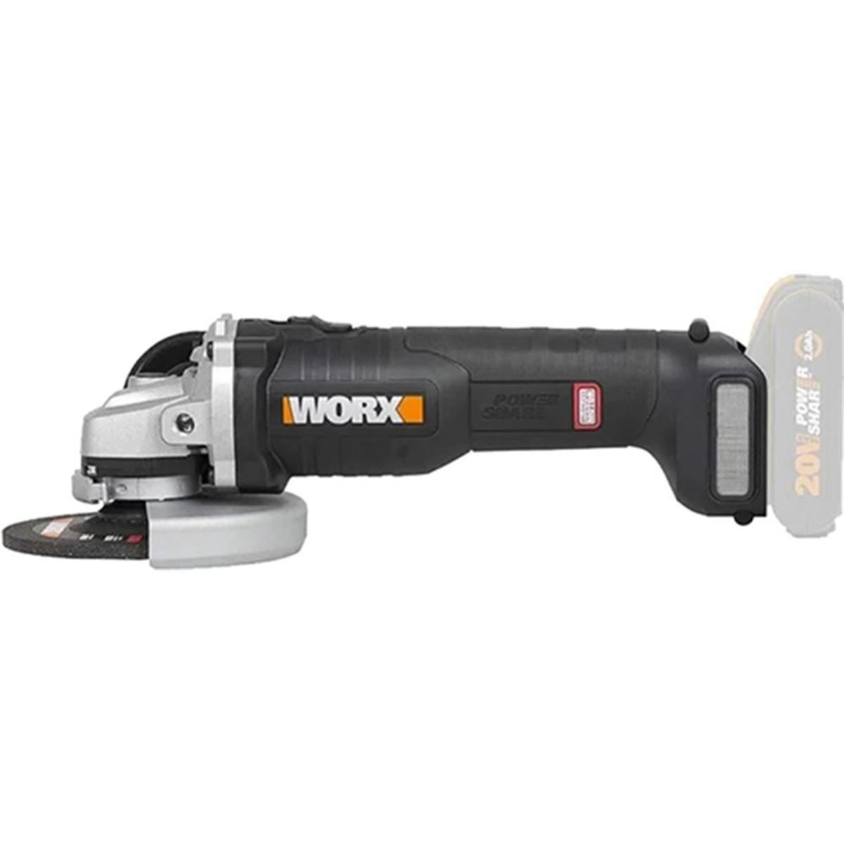 Аккумуляторная угловая шлифовальная машина Worx WX812.9
