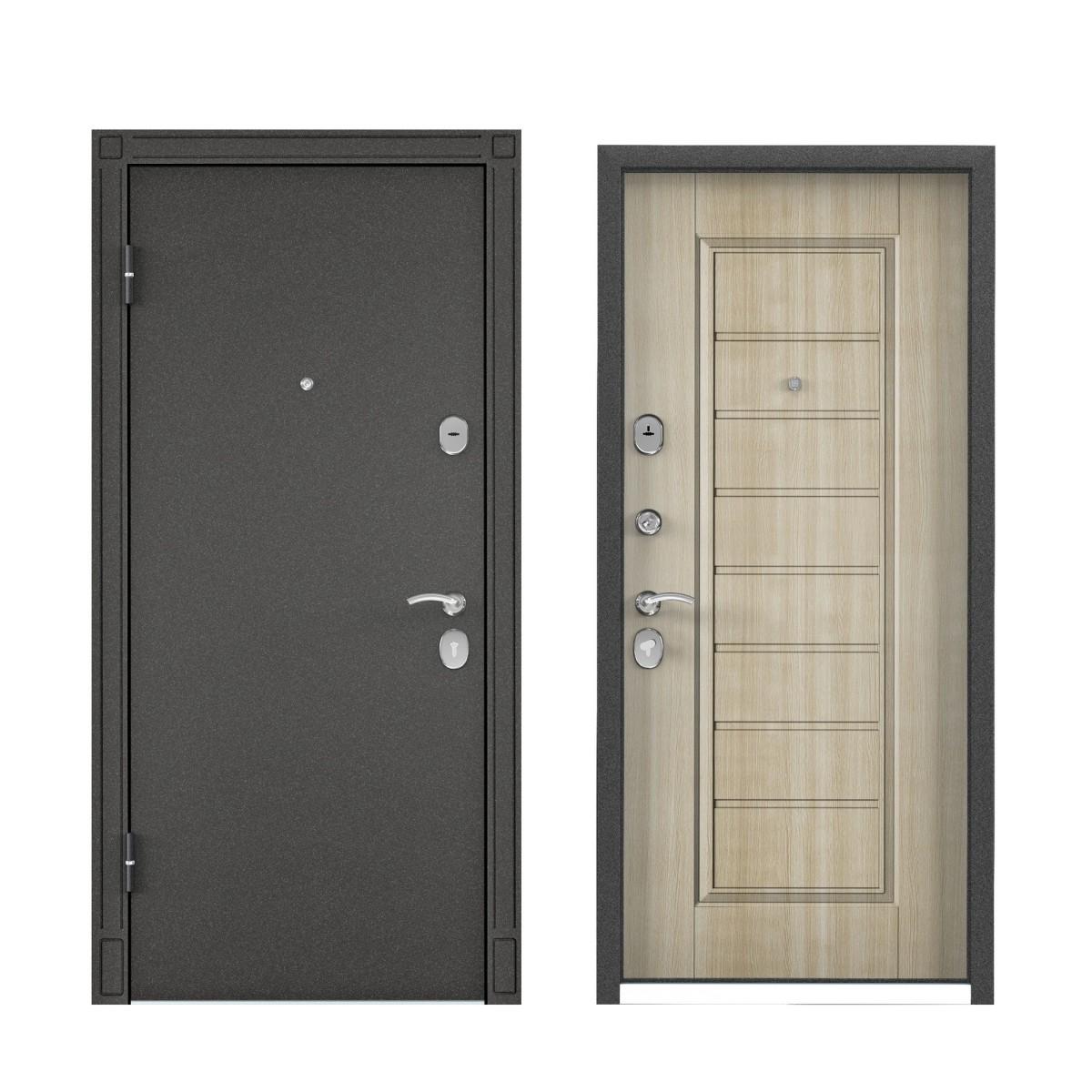 Дверь входная металлическая Торэкс Стел-07 860х2050 мм левая цвет белый венге