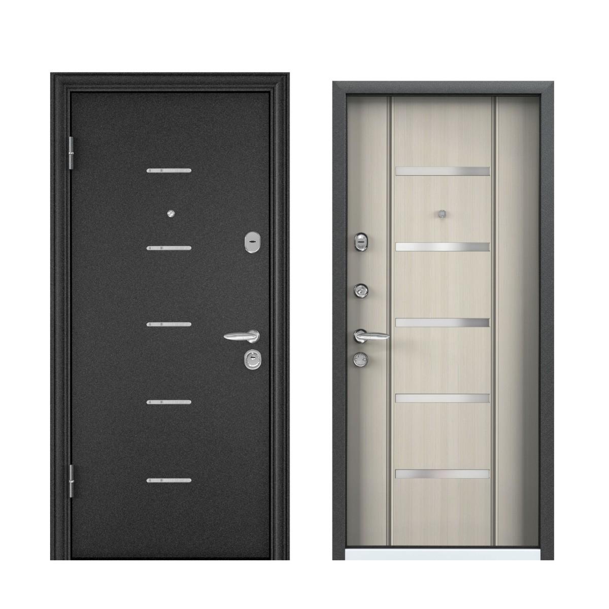 Дверь входная металлическая Торэкс Super Omega–10 880х2070 мм левая цвет белый перламутр