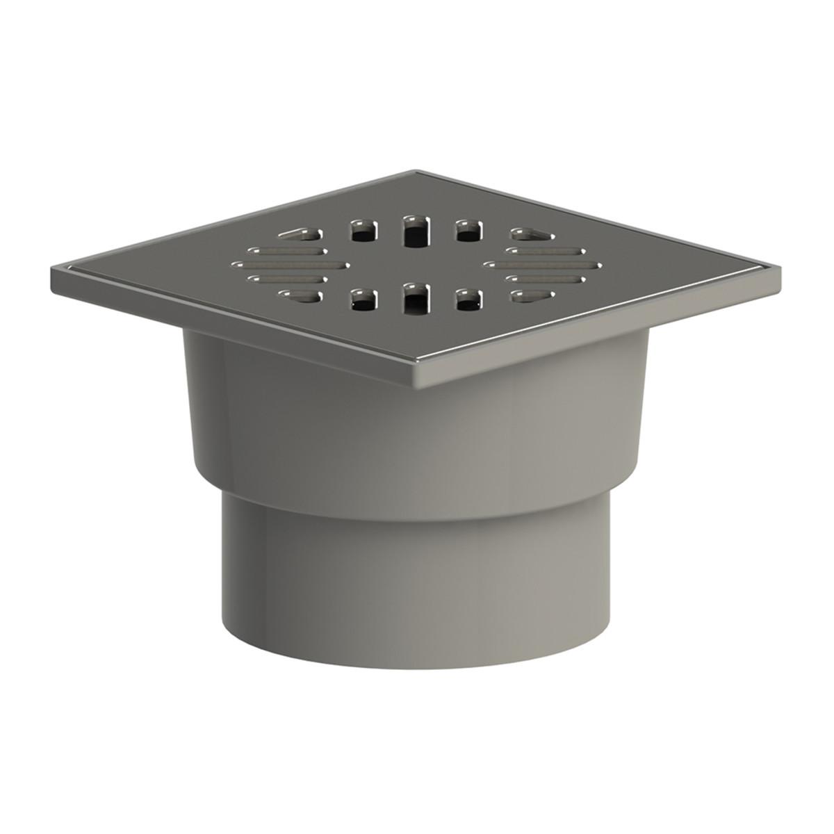 Трап MasterProf пластик. нерж. решетка прямой 15 х 15 см (диам. 110 мм)