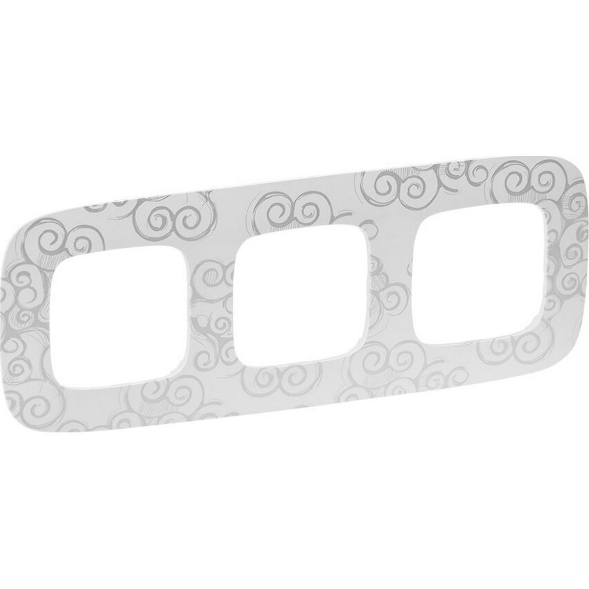 Рамка для розеток и выключателей Legrand Valena ALLURE 3 поста цвет нарцисс хром