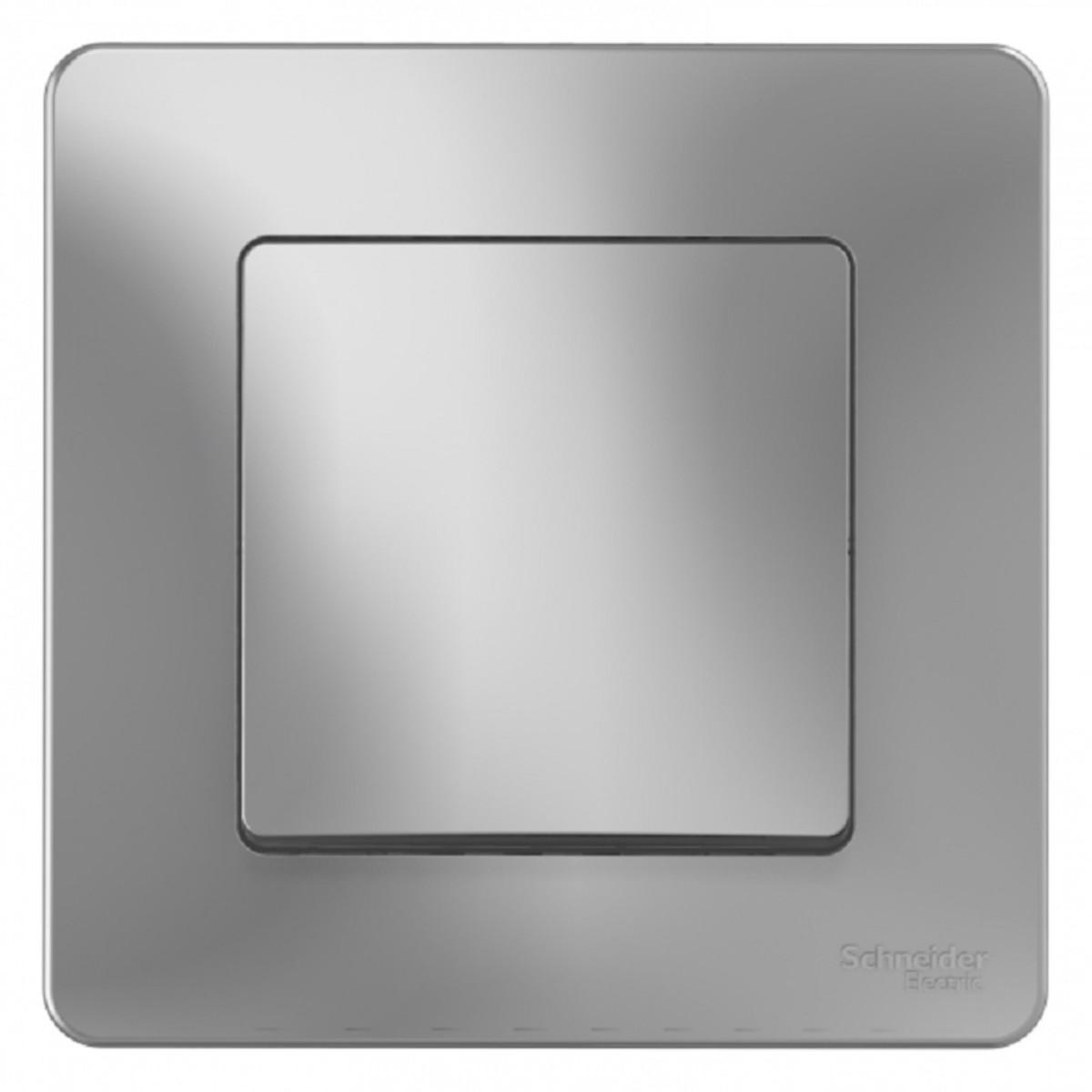 Выключатель встраиваемый Schneider Electric Blanca 1 клавиша цвет алюминий