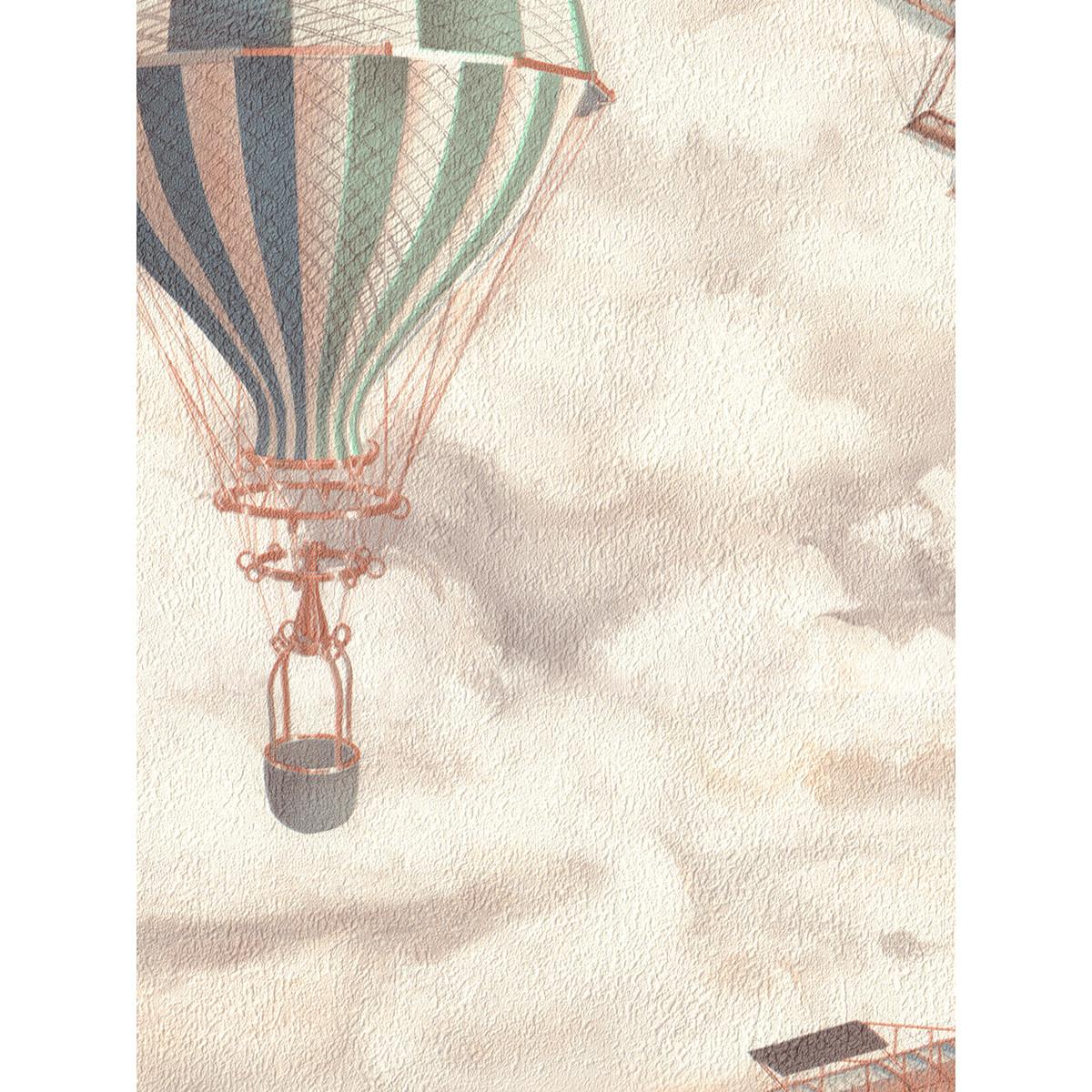 Флизелиновые обои Monte Solaro Balloon бежевые 9070-01 1.06 м