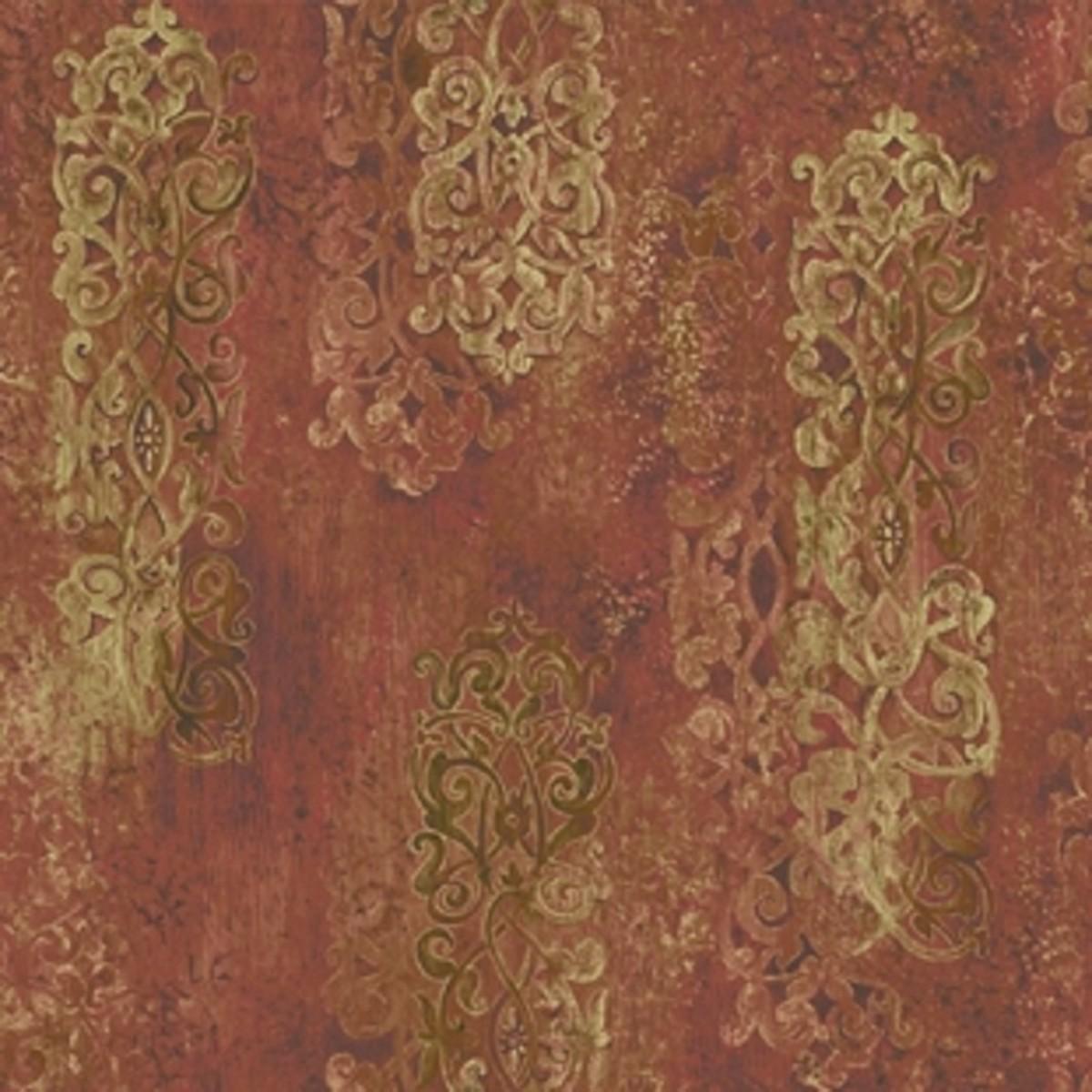 Виниловые обои York Wallcoverings красные AH4737 0.68 м