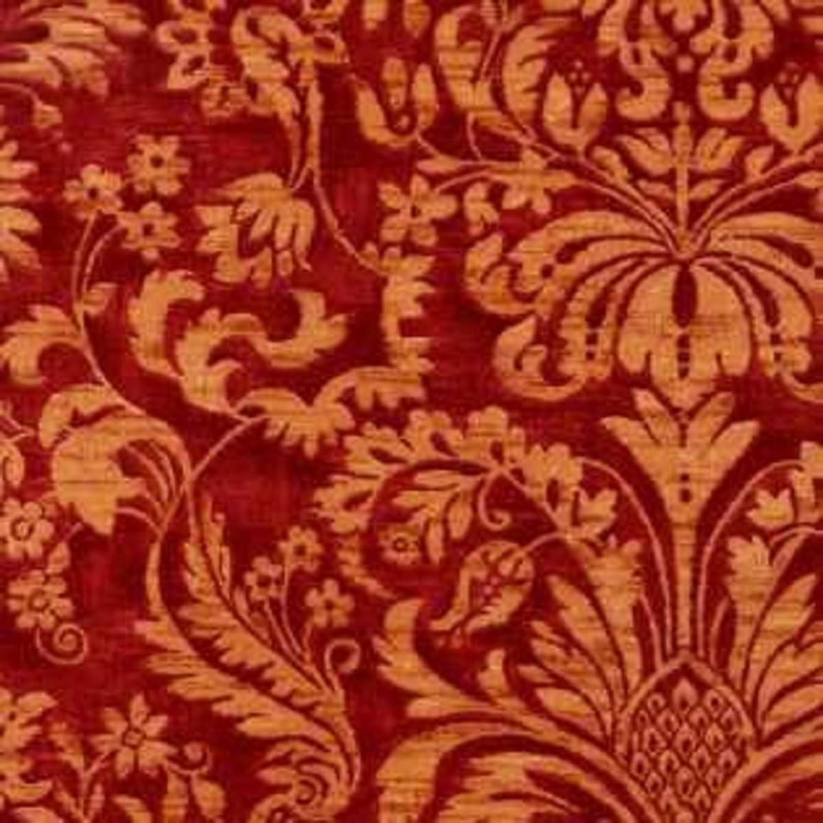Виниловые обои York Wallcoverings красные WU0707 0.52 м