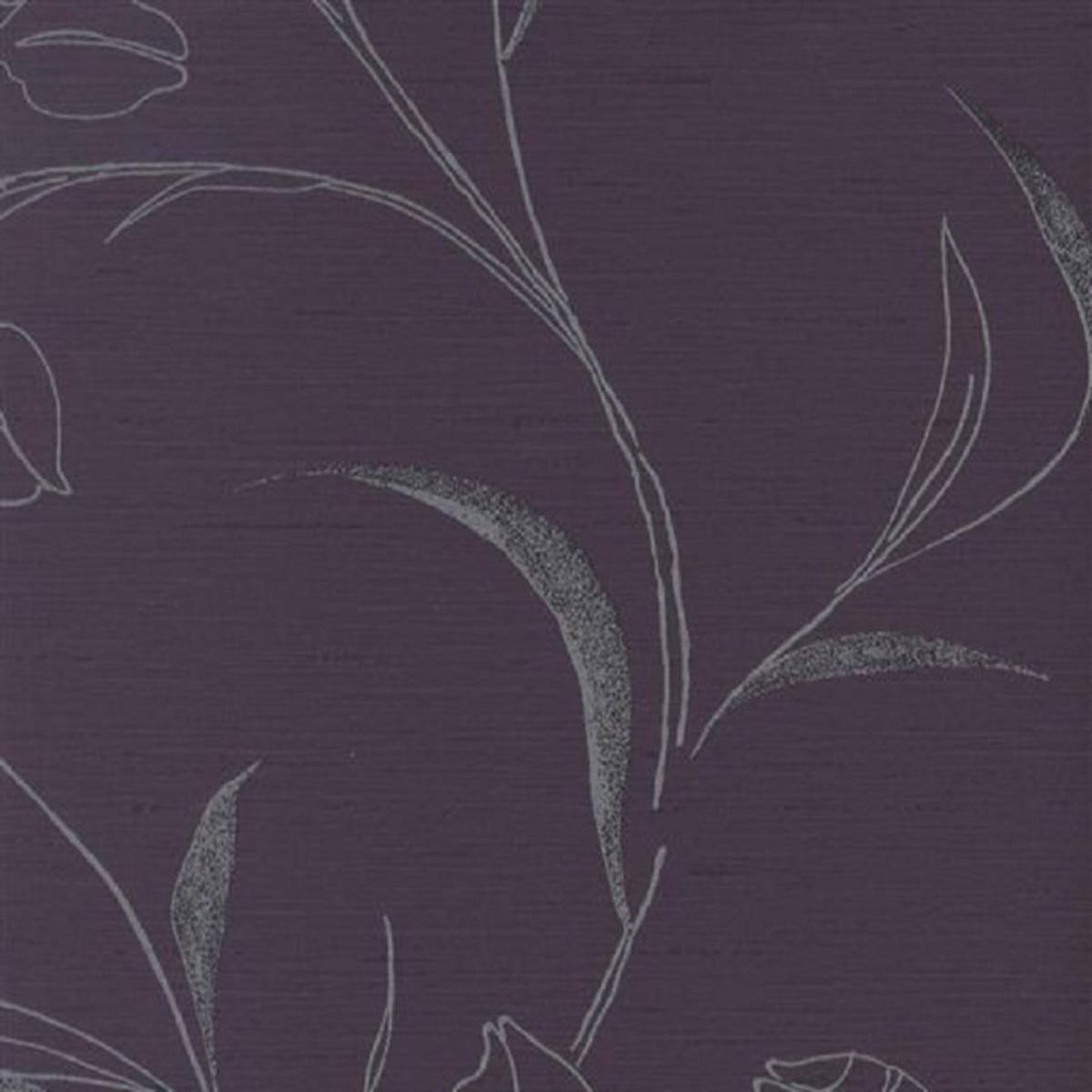 Виниловые обои York Wallcoverings фиолетовые AT4174 0.68 м