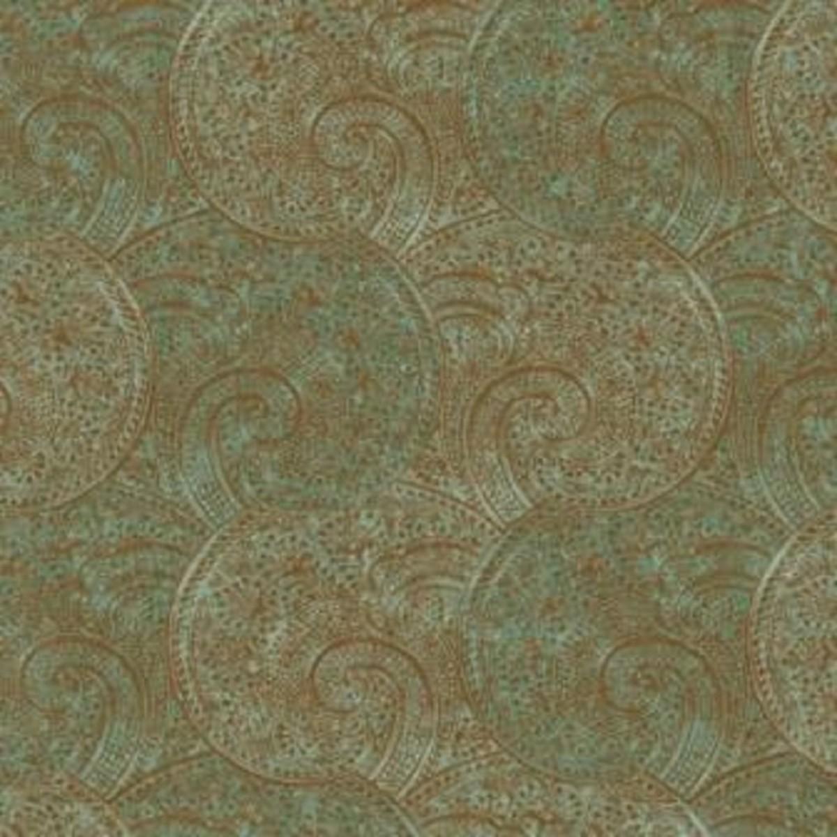 Виниловые обои York Wallcoverings зеленые TH6348 0.68 м