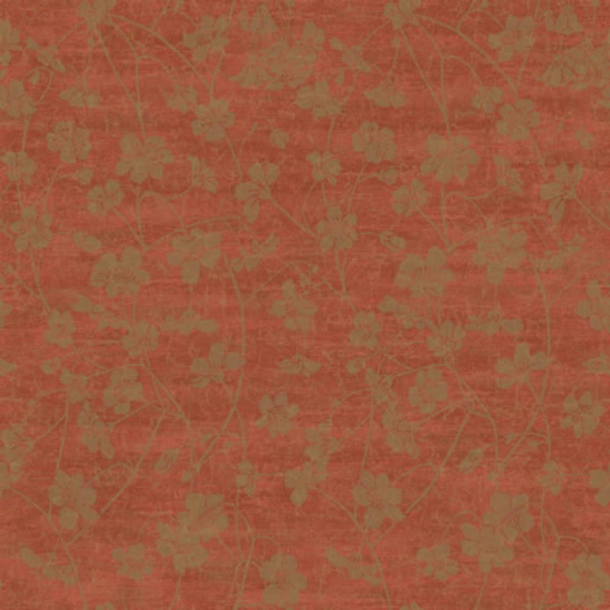 Виниловые обои York Wallcoverings красные CL0911 0.68 м