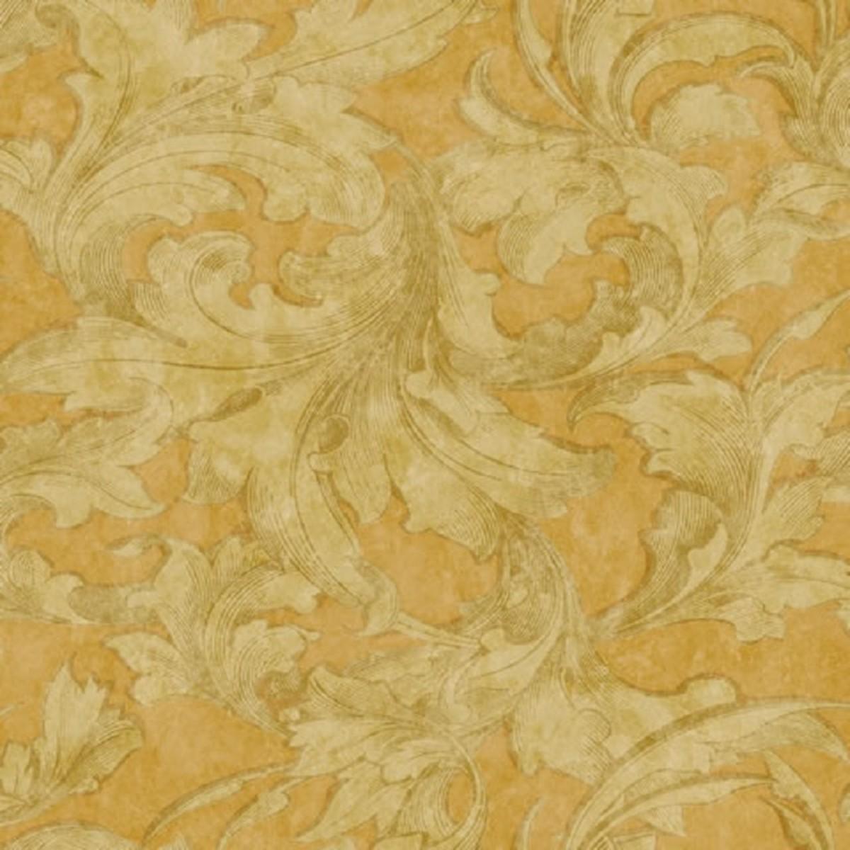 Виниловые обои York Wallcoverings желтые DA2342 0.52 м