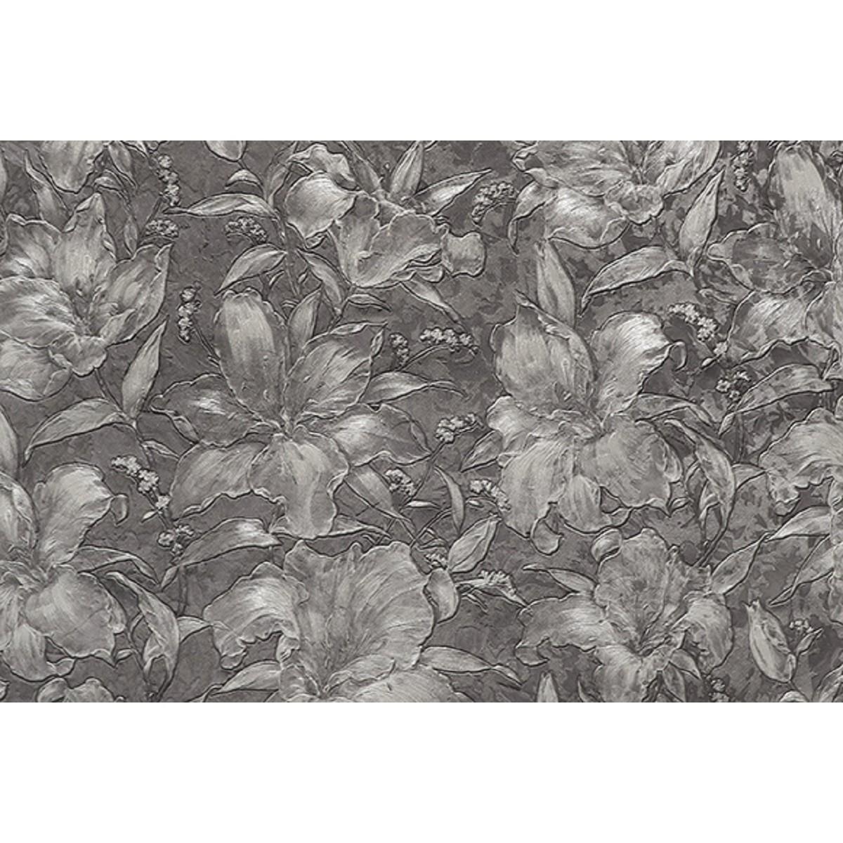 Обои флизелиновые Melody Блисс Муар серые 47607 1.06 м