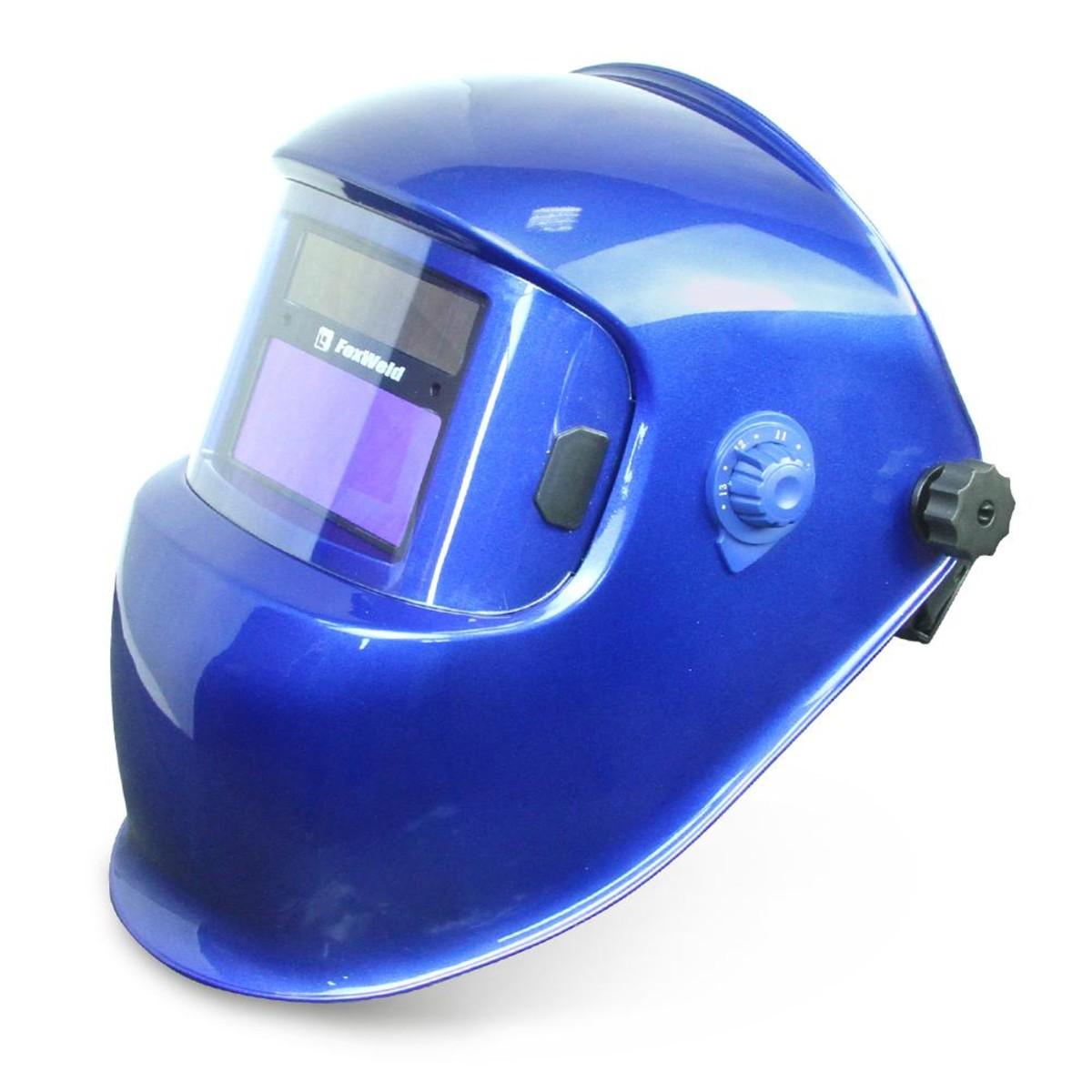 Маска для сварки Foxweld КОРУНД-5 синяя (ф-р 2100V) 5513