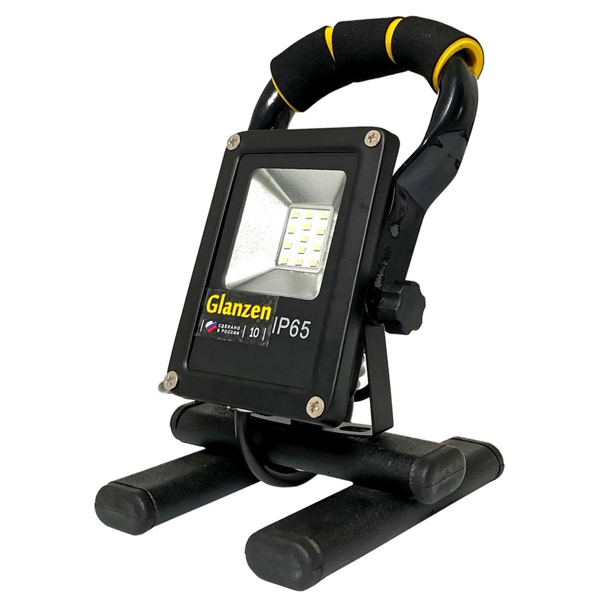 Прожектор уличный светодиодный Glanzen Fad FAD-0018-10 IP65 6500 К 900 Лм