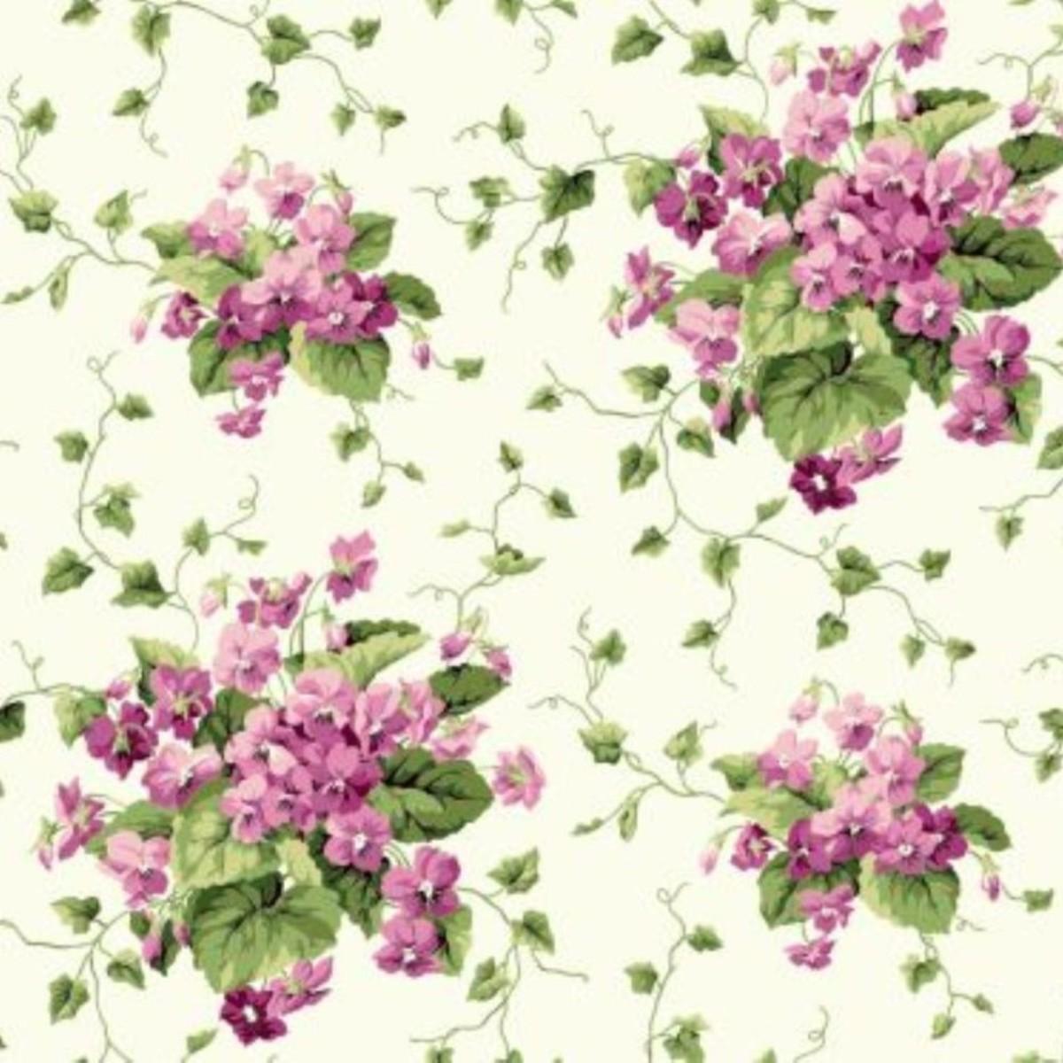 Обои бумажные York Wallcoverings Waverly Cottage белые ER8101 0.68 м