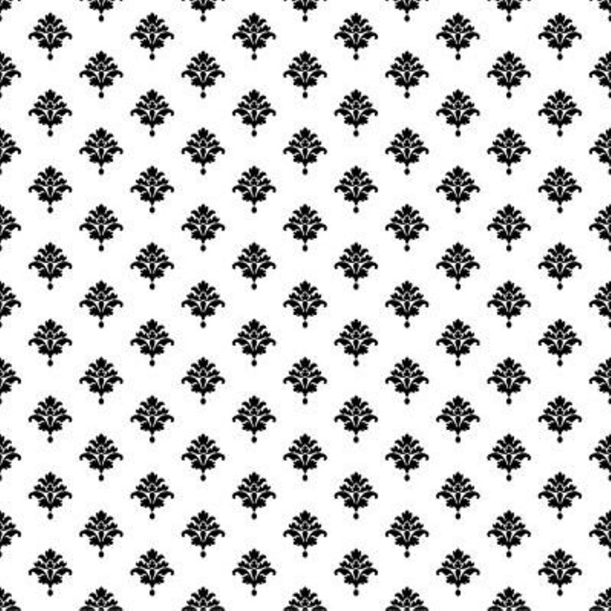 Обои бумажные York Wallcoverings Waverly Cottage черные ER8230 0.52 м