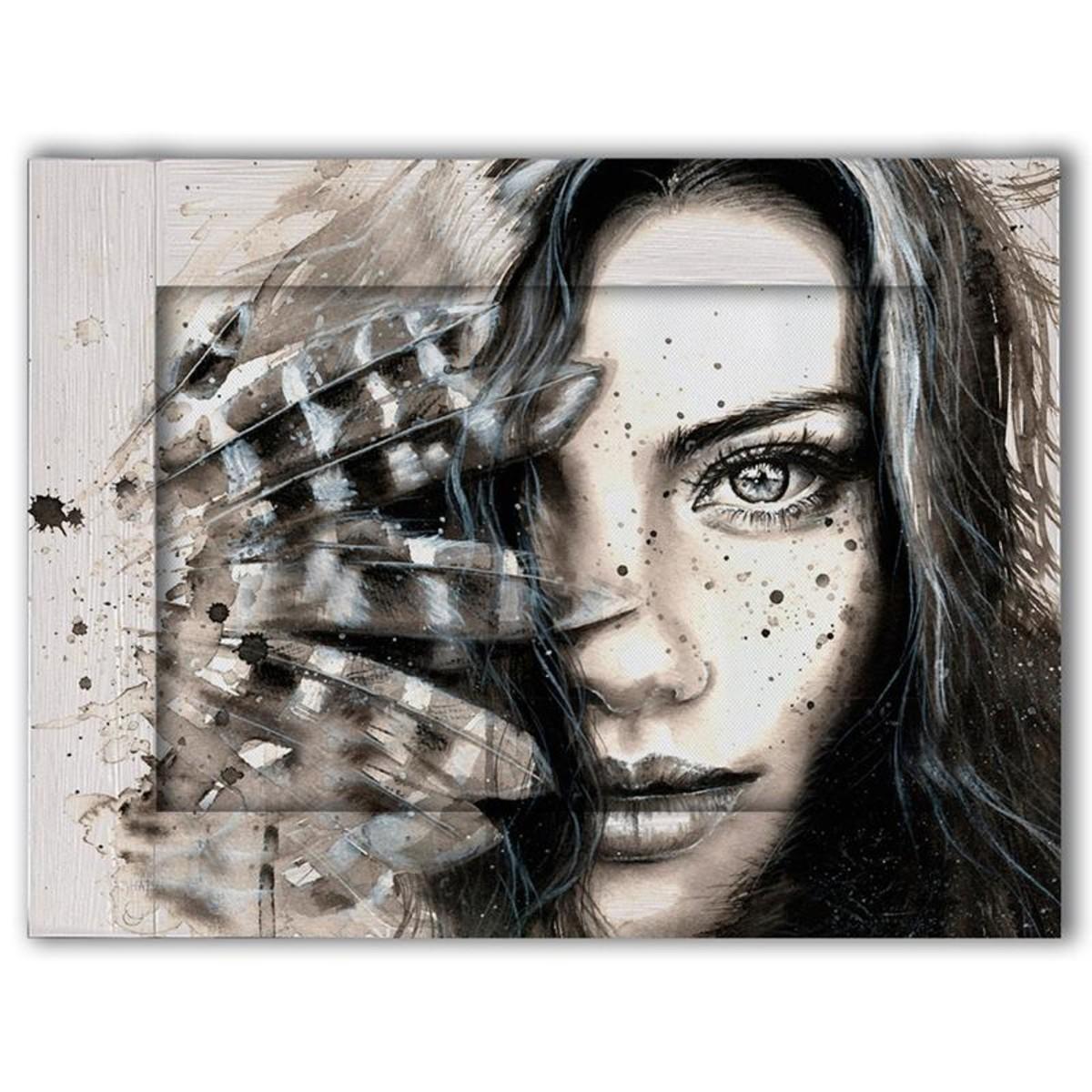 Картина Дом Корлеоне Женщина с перьями 70х90 см