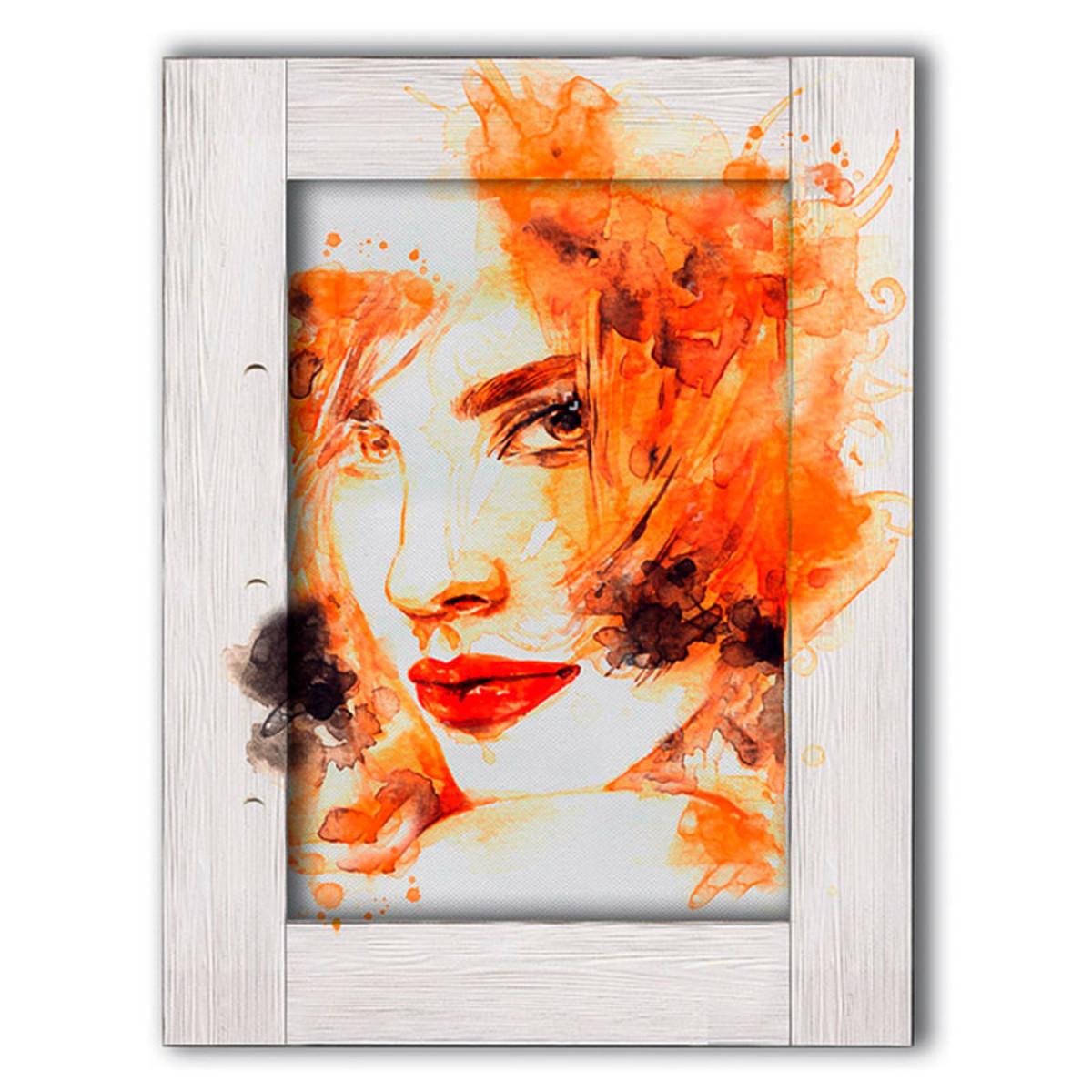 Картина Дом Корлеоне Девушка с рыжими волосами 60х80 см