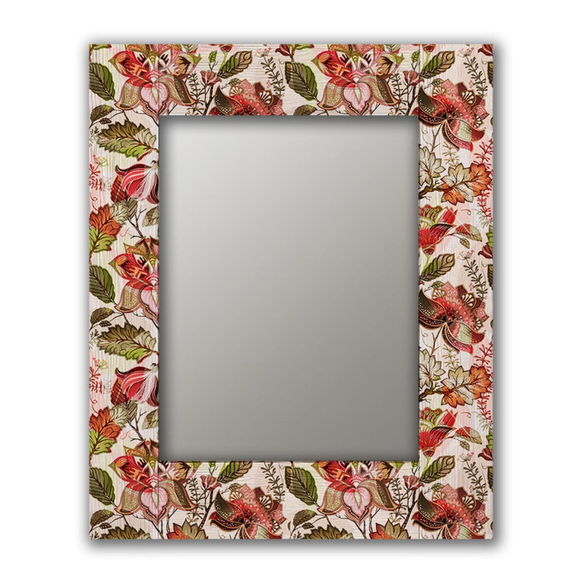 Настенное зеркало Дом Корлеоне Цветы Прованс 75х110 см
