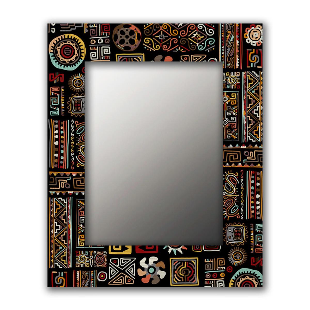 Настенное зеркало Дом Корлеоне Этнический микс 50х65 см