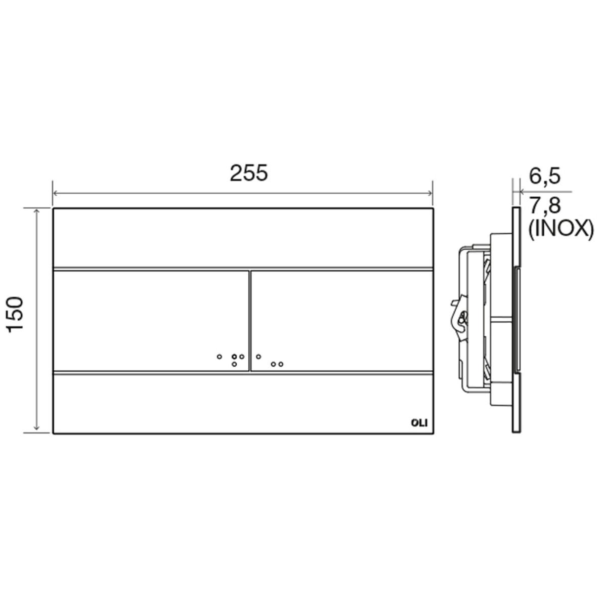 Панель смыва для инсталляции Oli Slim 659041