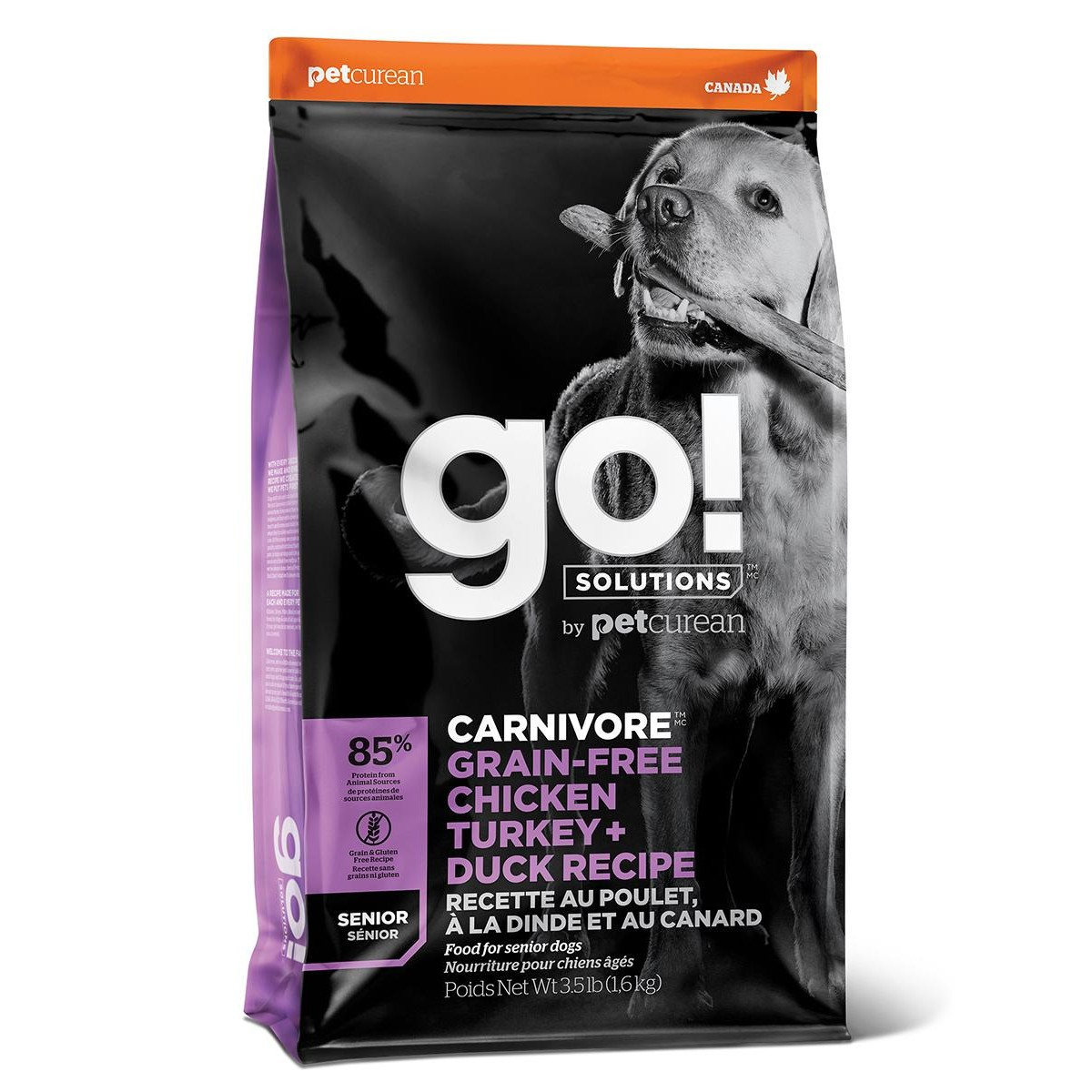 Сухой корм для пожилых собак GO! NATURAL HOLISTIC беззерновой 4 вида мяса Индейка Курица Лосось Утка 5.44 кг