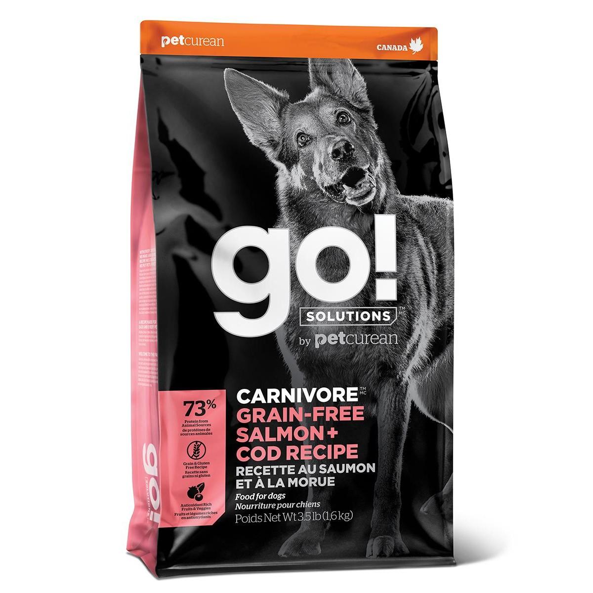 Сухой корм для щенков и собак GO! NATURAL HOLISTIC беззерновой Лосось и Треска 9.98 кг