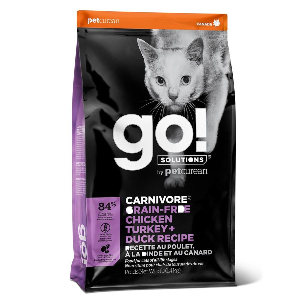 Сухой корм для котят и кошек GO! Natural Holistic беззерновой Курица Индейка Утка Лосось 136 кг