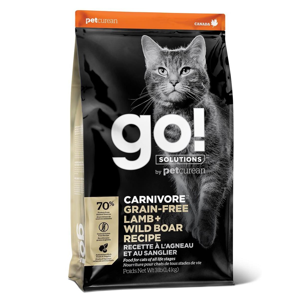 Сухой корм для котят и кошек GO! Natural Holistic беззерновой Ягненок мясо Дикого кабана 726 кг