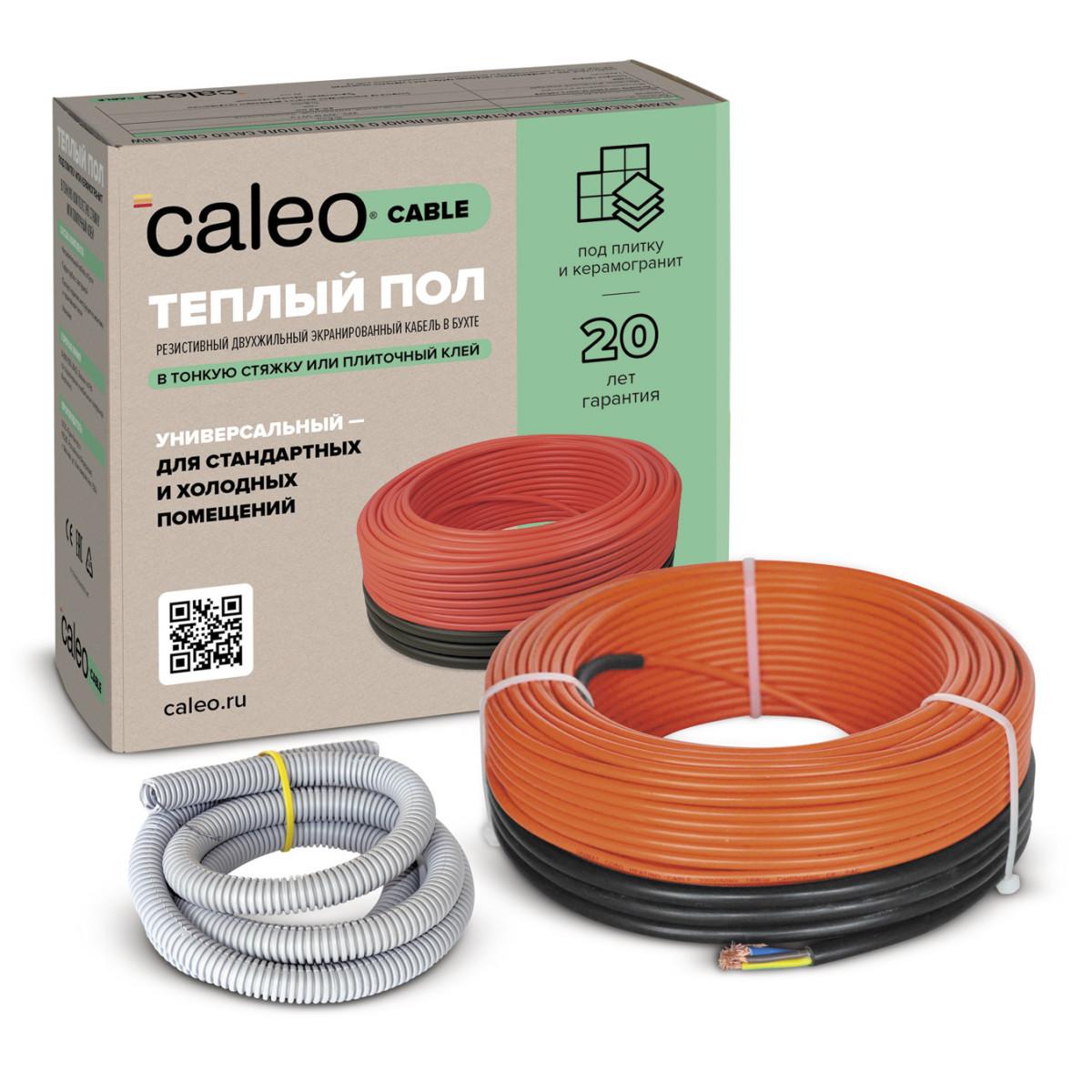 Нагревательная секция для теплого пола Caleo Cable 18W-70 97 М2
