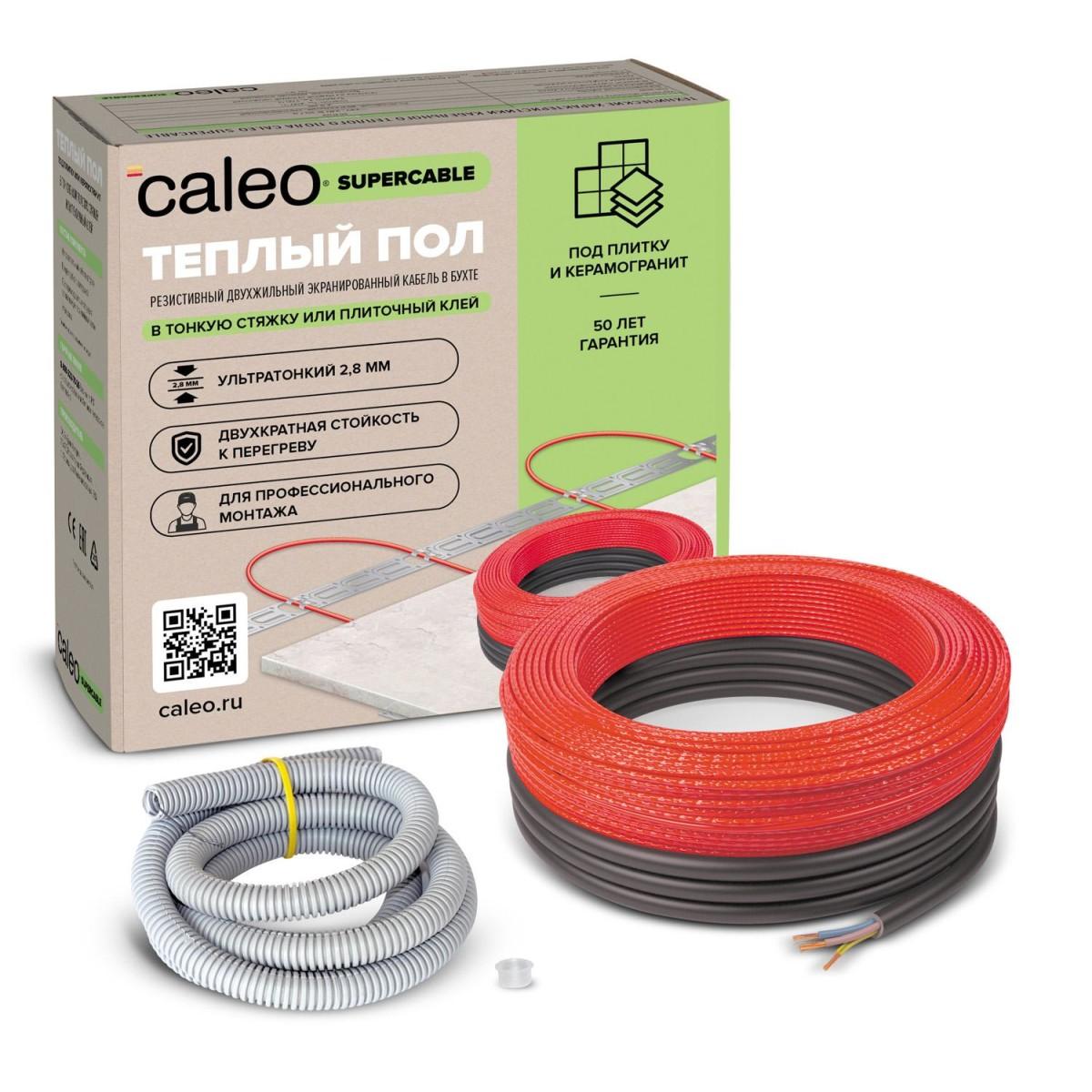 Нагревательная секция для теплого пола Caleo Supercable 18W-60 5.4-8.3 М2
