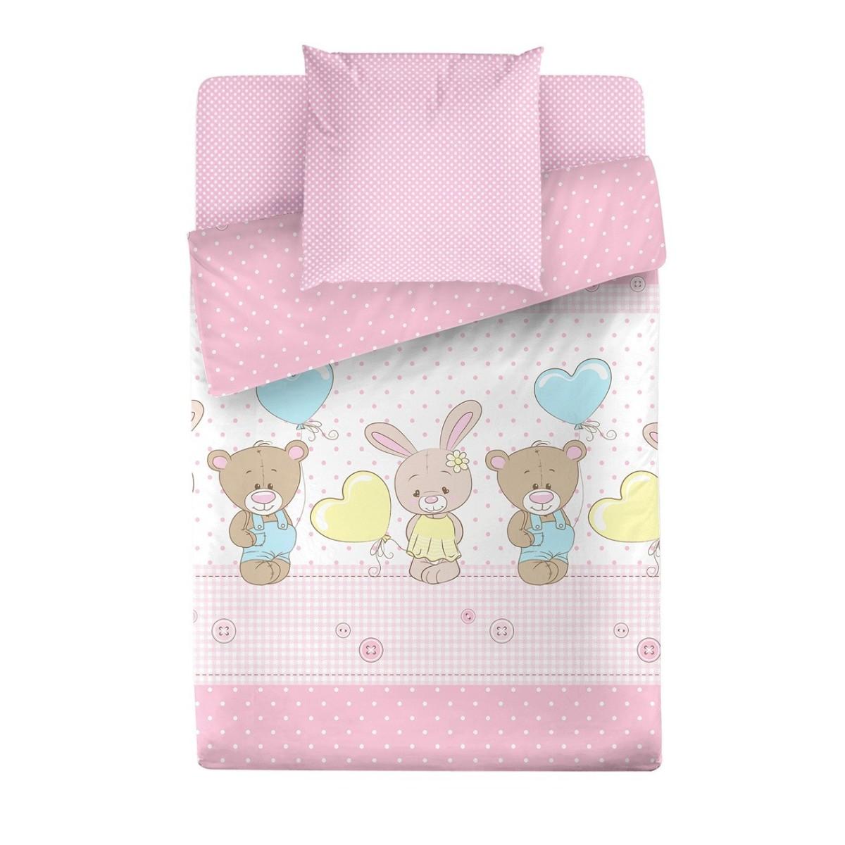 Комплект постельного белья Маленькая Соня Друзья 102318 поплин 3 предмета