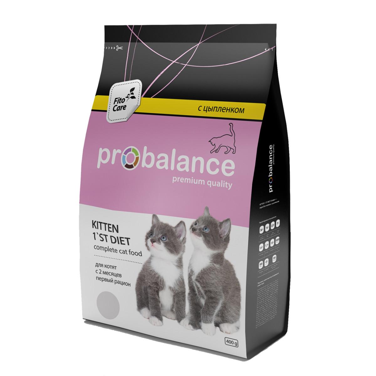 Сухой корм для котят PROBALANCE 1'st Diet Цыпленок 400 г