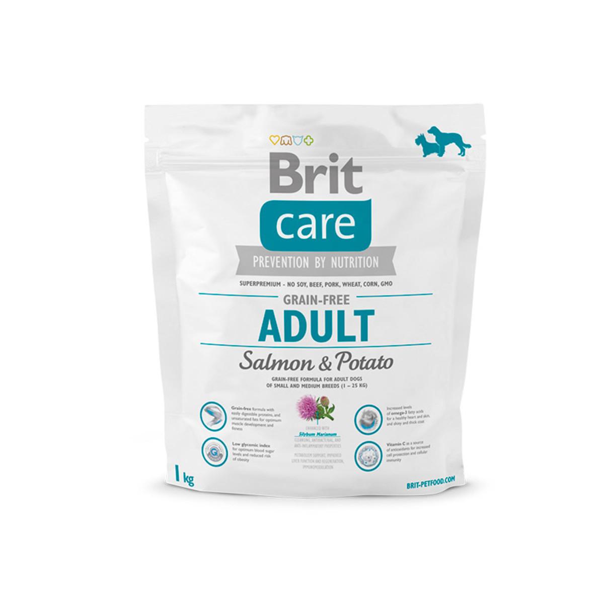 Сухой корм для собак всех пород BRIT Care Salmon All Breed беззерновой Лосось Картофель 1 кг
