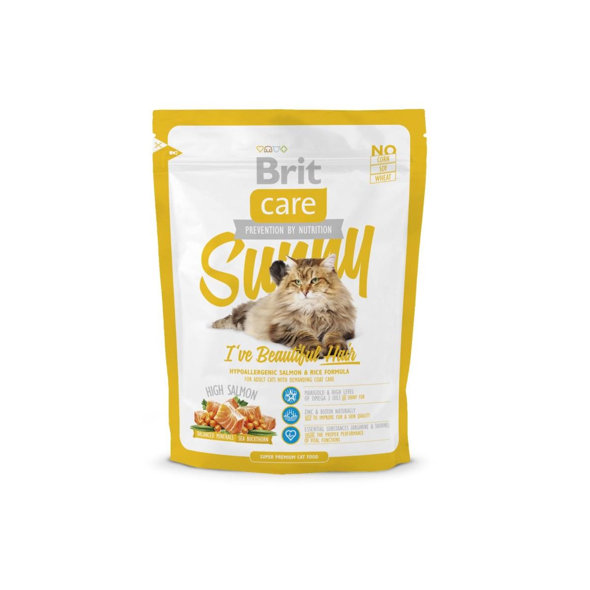 Сухой корм для длинношерстых кошек BRIT Care Cat Sunny Beautiful Hair 400 г