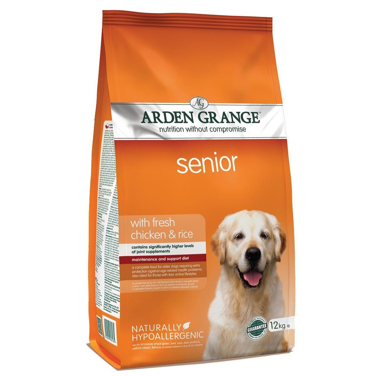 Сухой корм для взрослых собак преклонного возраста ARDEN GRANGE 12 кг