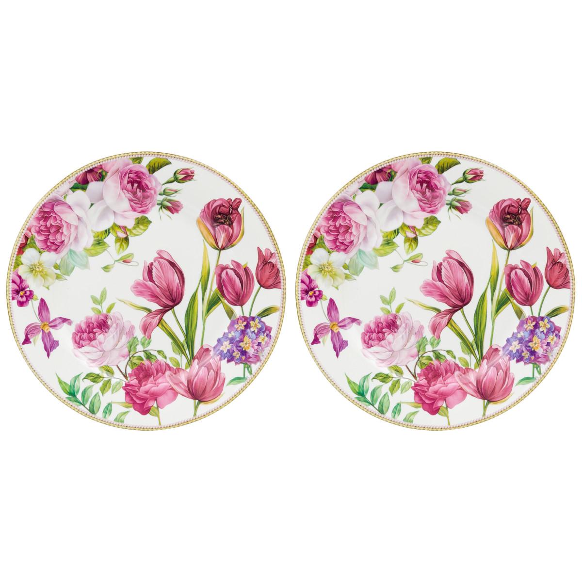 Набор тарелок Elan Gallery Цветочное поле 420228
