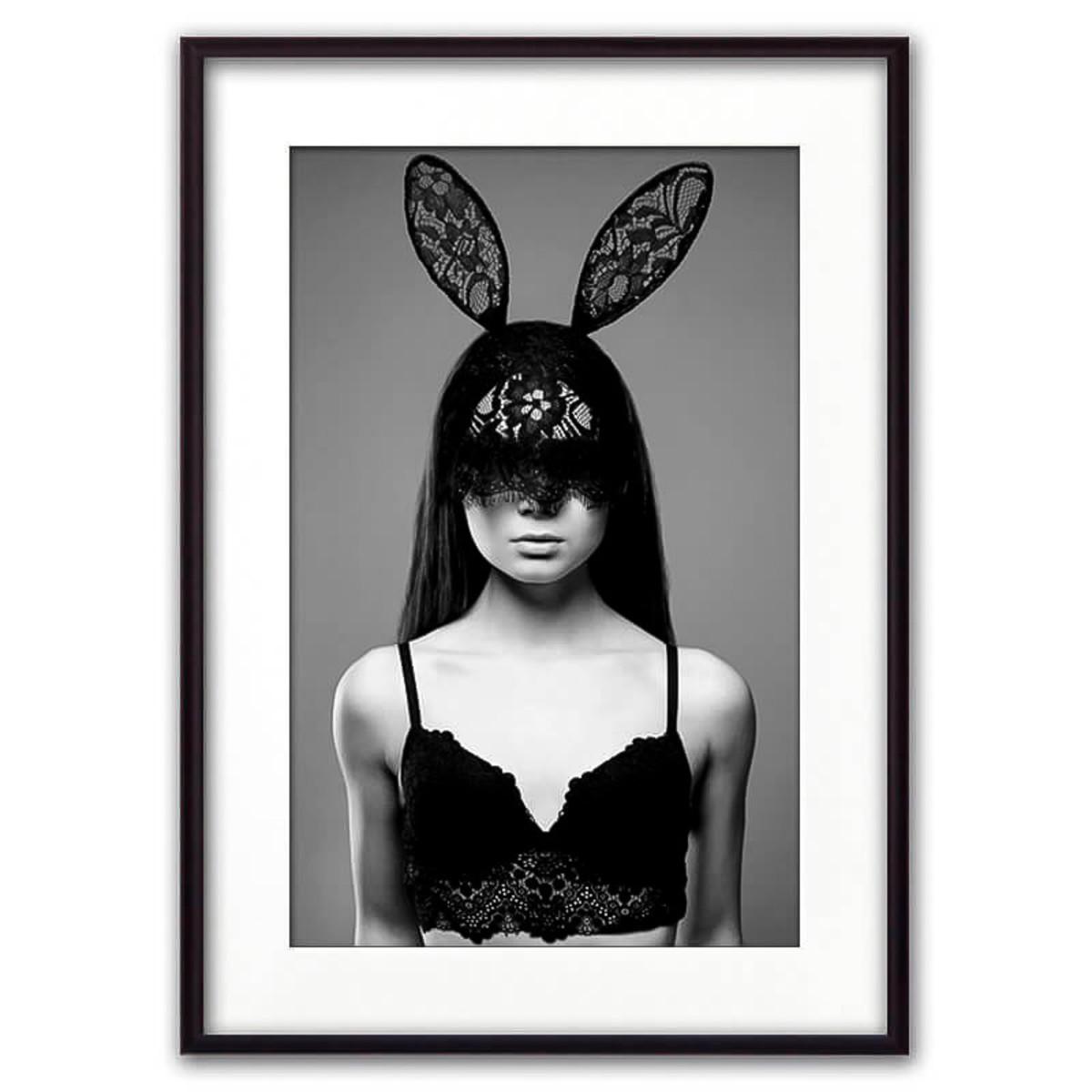Постер Дом Корлеоне Девушка в маске с ушками 07-0006-21х30 21х30 см
