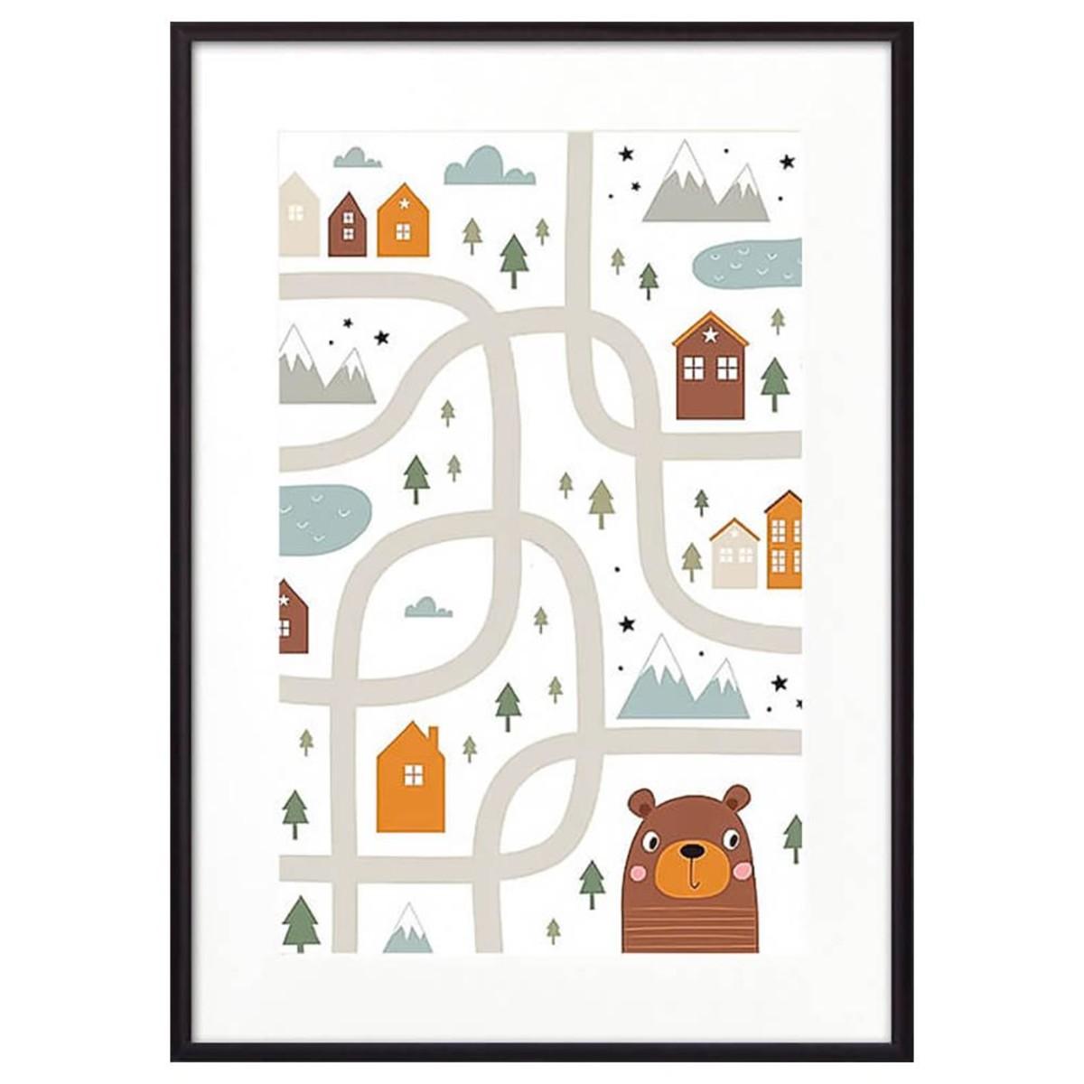Постер Дом Корлеоне Медвежья тропа 07-0631-40х60 40х60 см