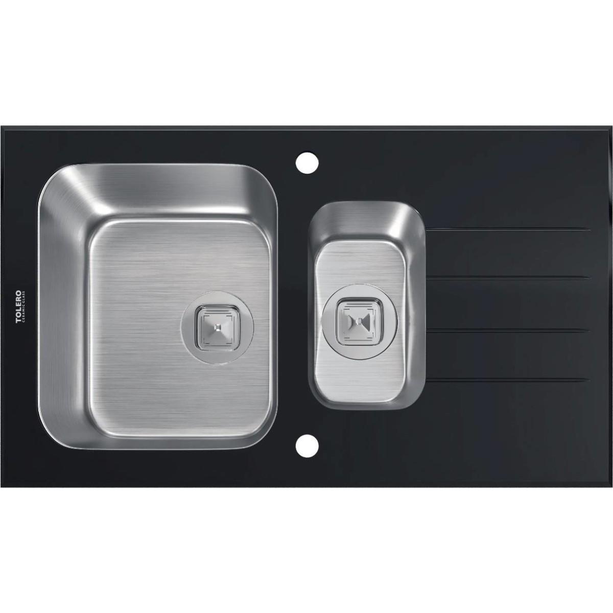 Кухонная мойка TOLERO  TGR-860к Черная