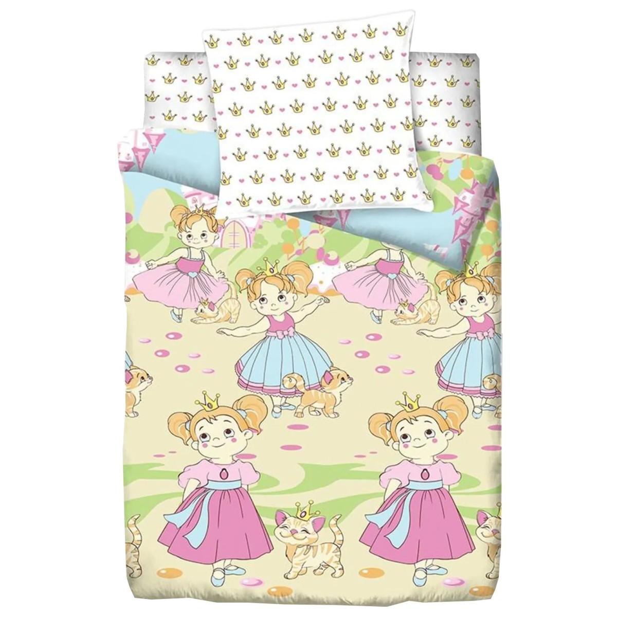 Комплект Постелього Белья Bravo Kids Dreams Маленькие Принцессы 115465 Поплин 3 Предмета
