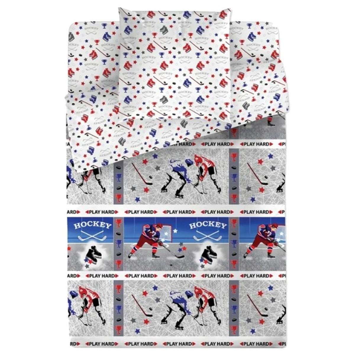 Комплект Постелього Белья Bravo Kids Dreams Хоккей 114108 Поплин 3 Предмета