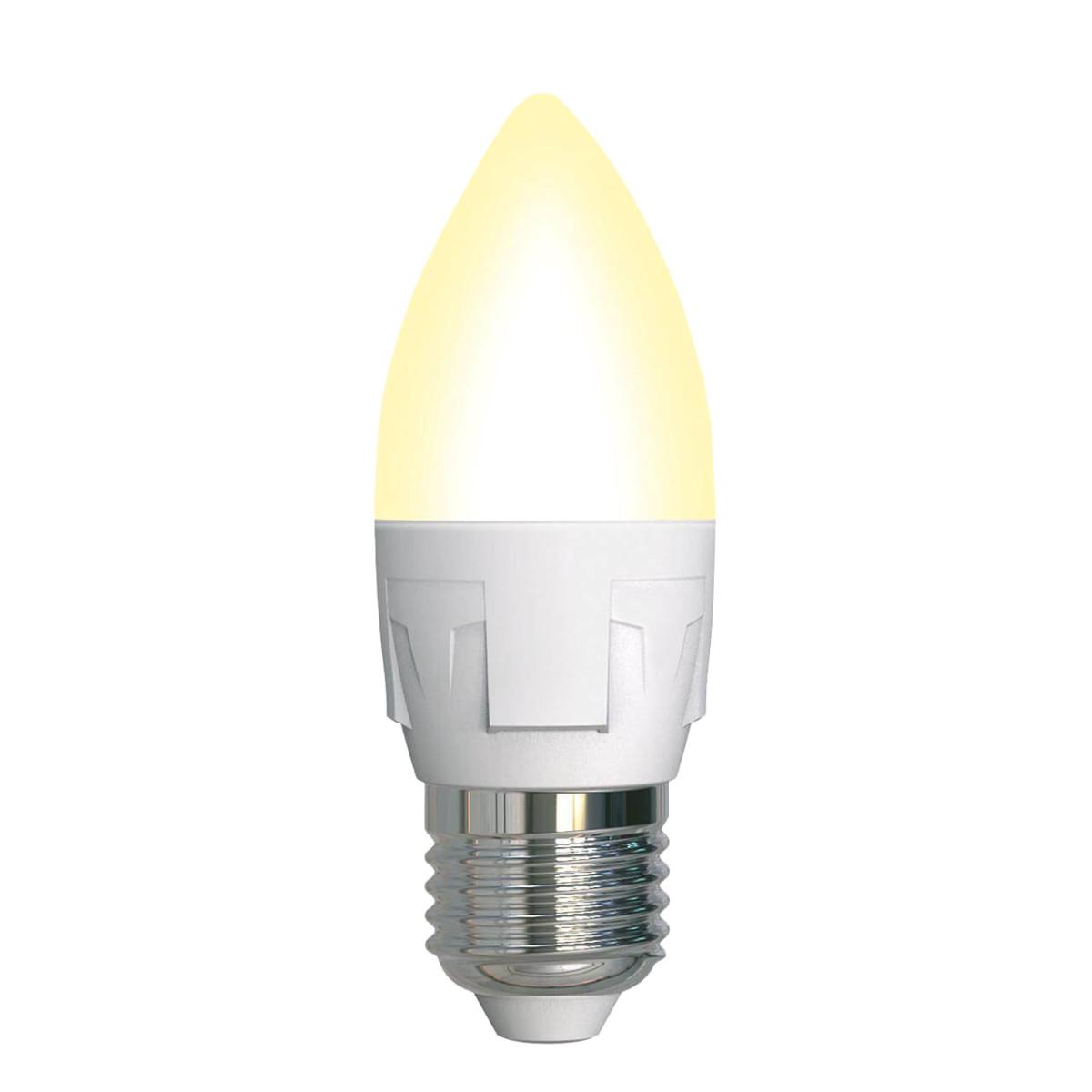 Лампа светодиодная Uniel Яркая Dimmable E27 свеча 600 Лм 7 Вт теплый белый (желтый)