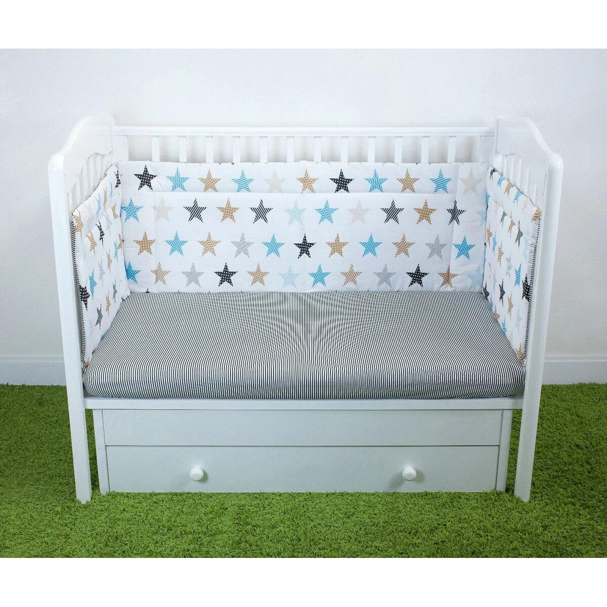 Бортик для детской кроватки Magic City Белое созвездие БК-ББ-014/40
