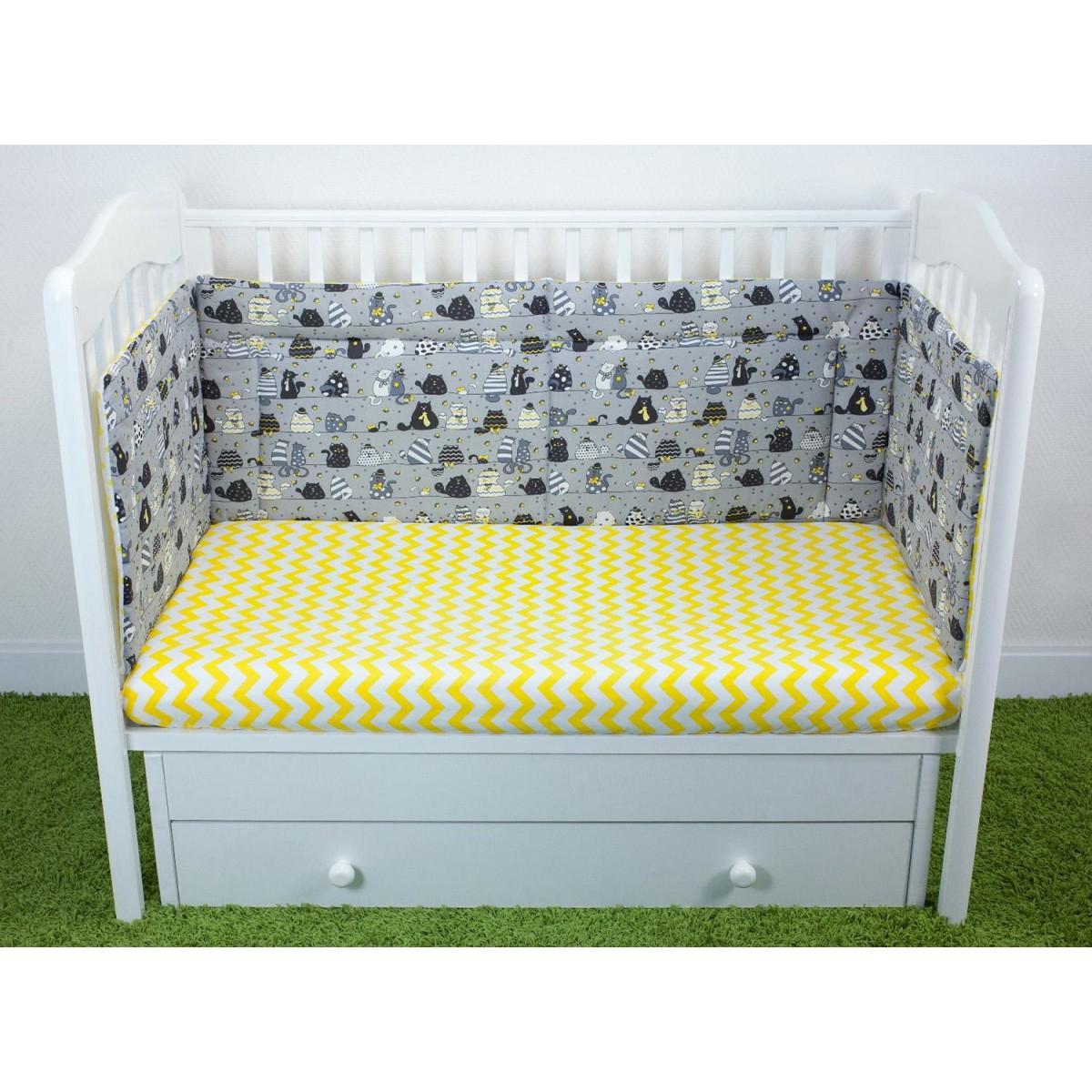 Бортик для детской кроватки Magic City Вечерние коты БК-ББ-001/45