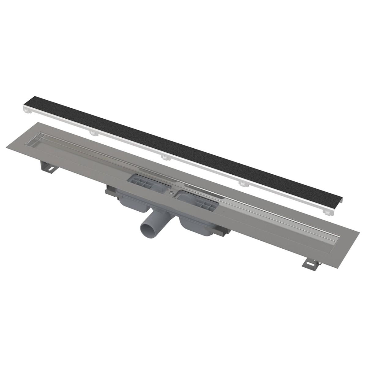 Водоотводящий желоб AlcaPlast без порогами с решеткой под кладку плитки арт.APZ115-1050