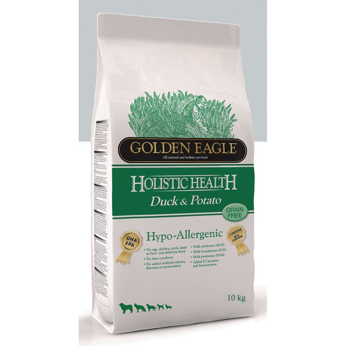 Сухой корм для собак GOLDEN EAGLE Duck&Potato гипоаллергенный беззерновой Утка Картофель 10 кг