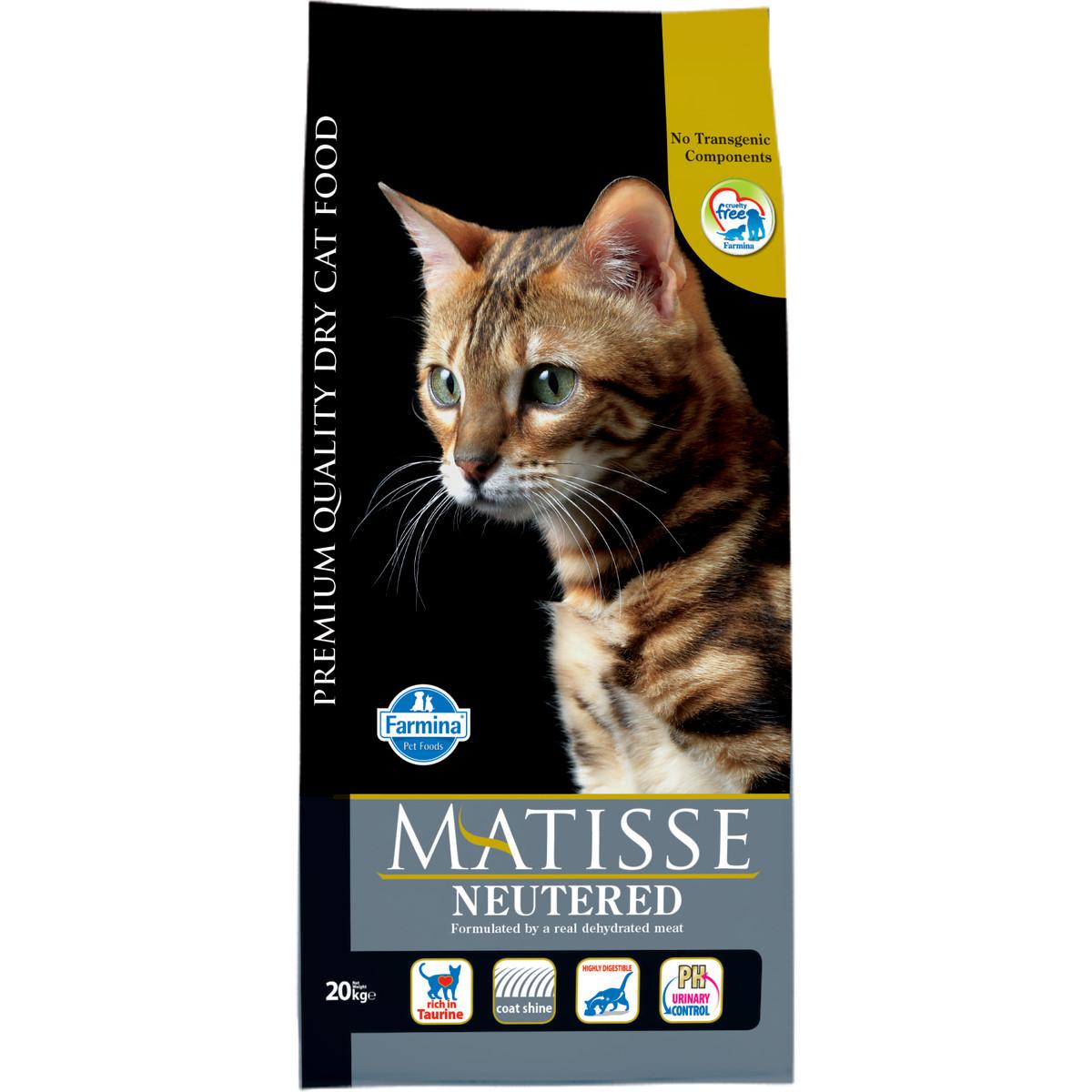 Сухой корм для стерилизованных кошек и кастрированных котов MATISSE Neutered 20 кг