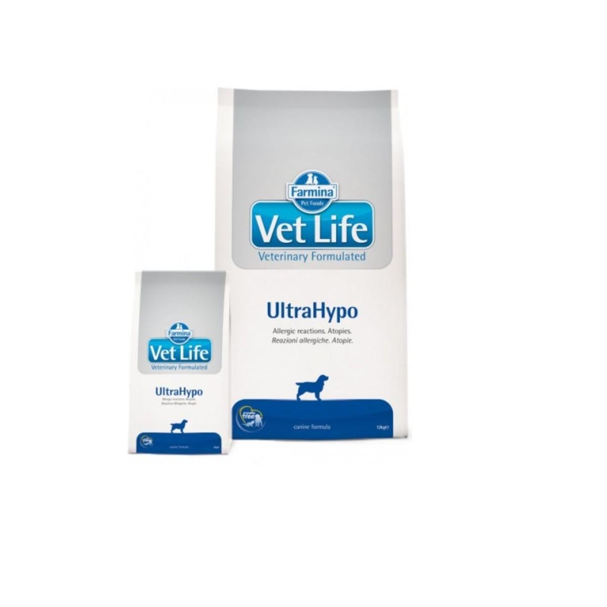 Сухой корм для кошек при пищевой аллергии или пищевой непереносимости FARMINA Vet Life Ultrahypo 10 кг
