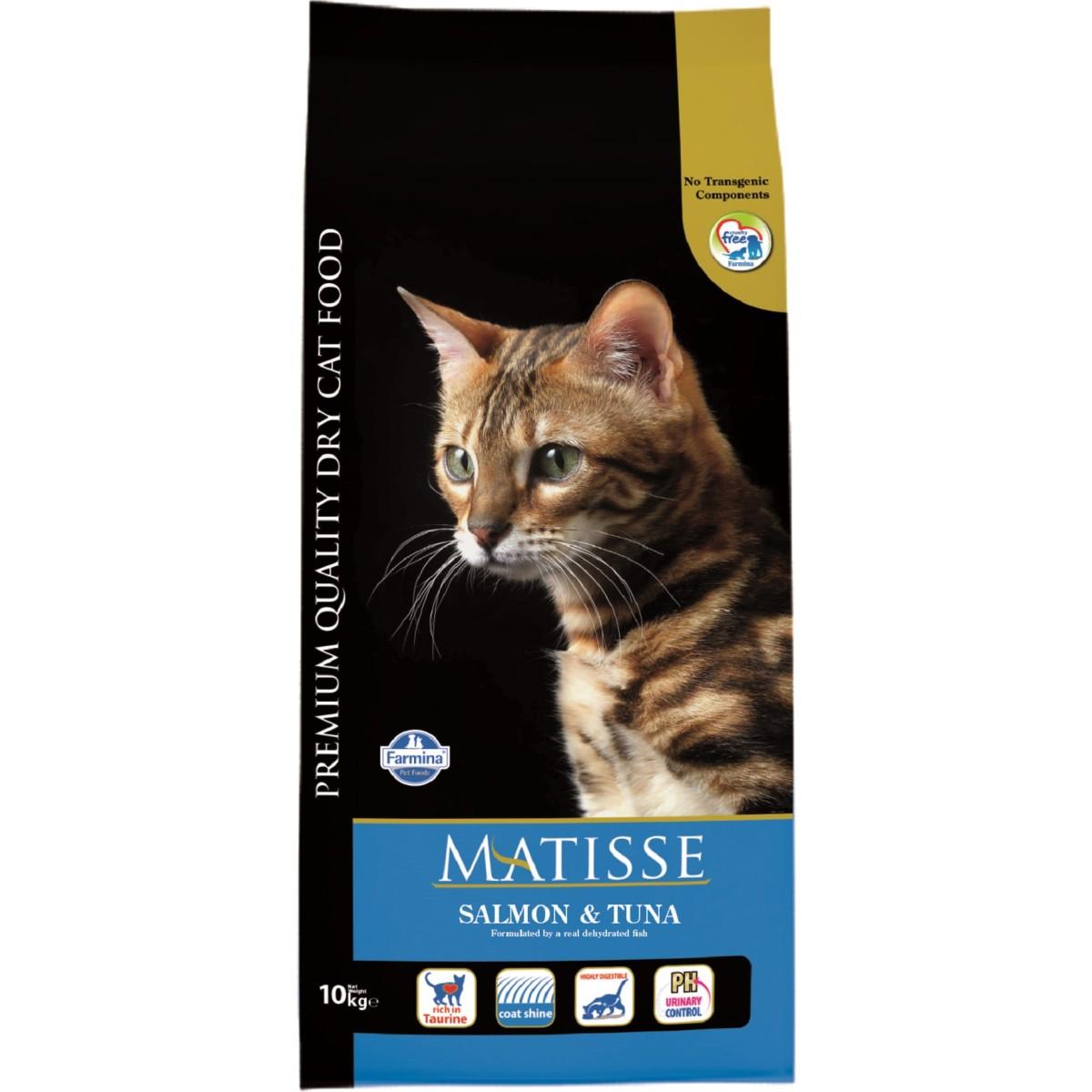 Сухой корм для кошек MATISSE Salmon & Tuna Лосось Тунец 10 кг