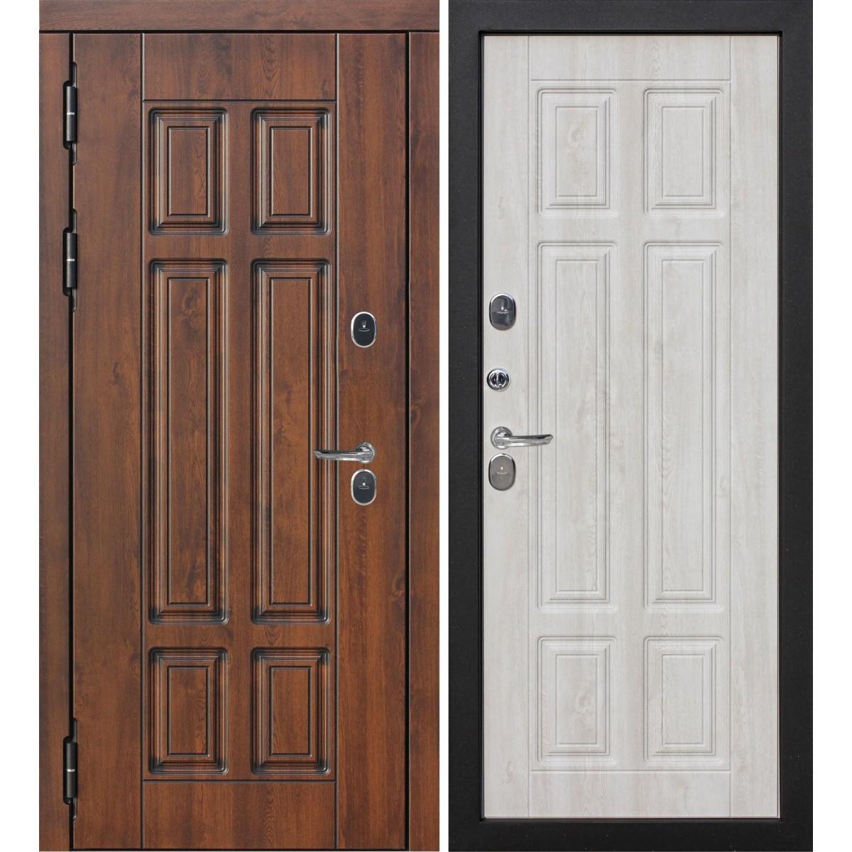 Дверь входная металлическая Isoterma Винорит Сосна белая 960х2050 мм левая