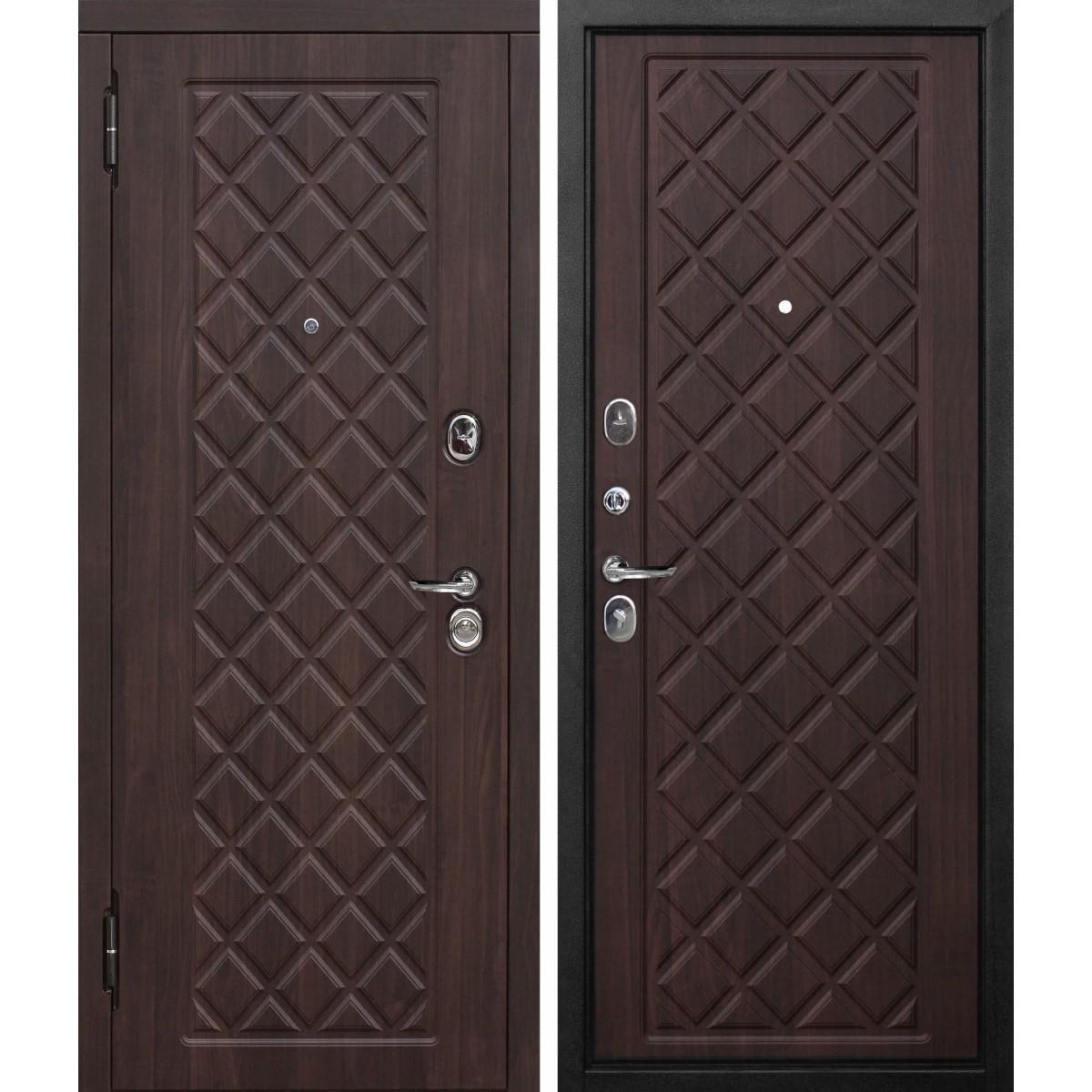 Дверь входная металлическая Kamelot Винорит Вишня темная 860х2050 мм левая